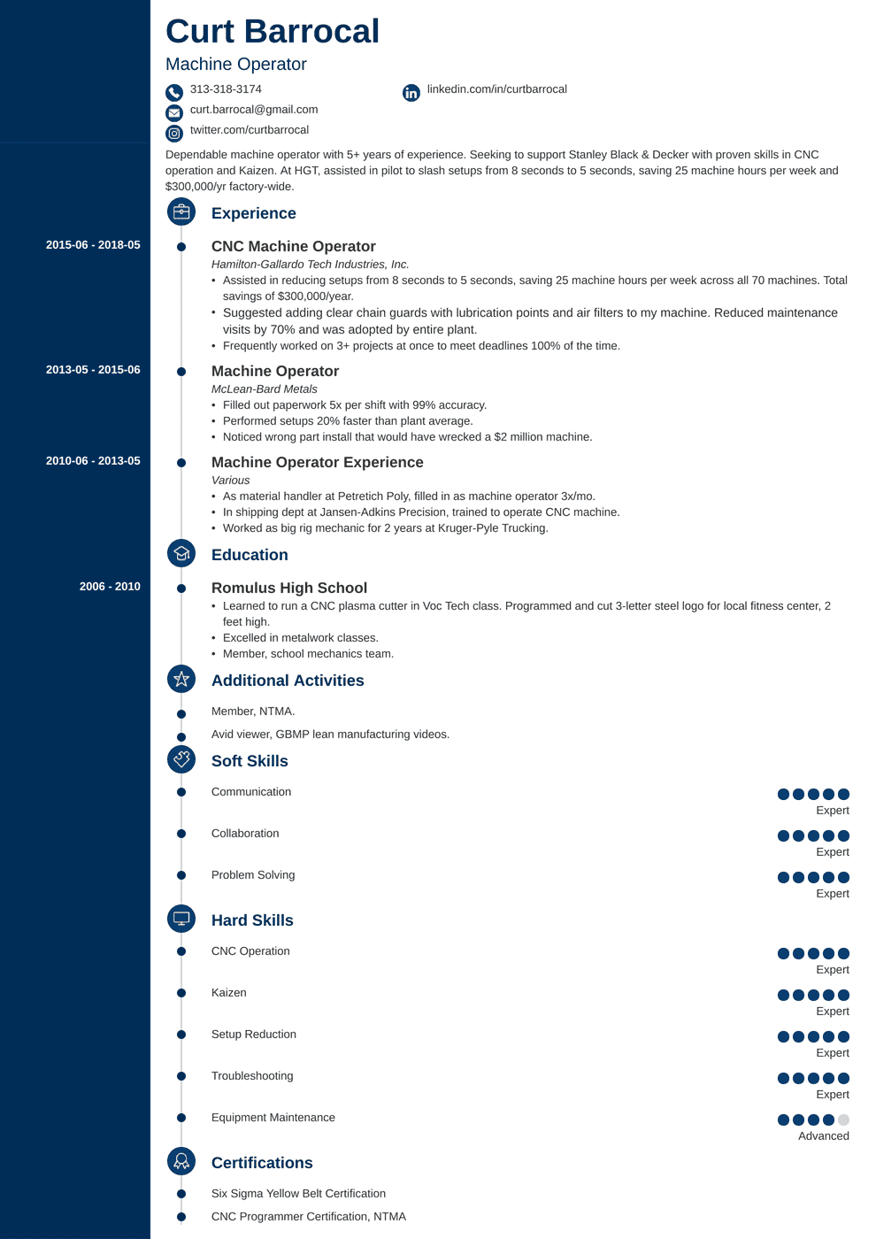 Professional Resume Template Concept