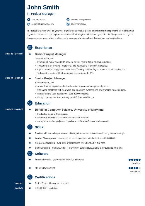 creative resume templates - Resume With Picture Template