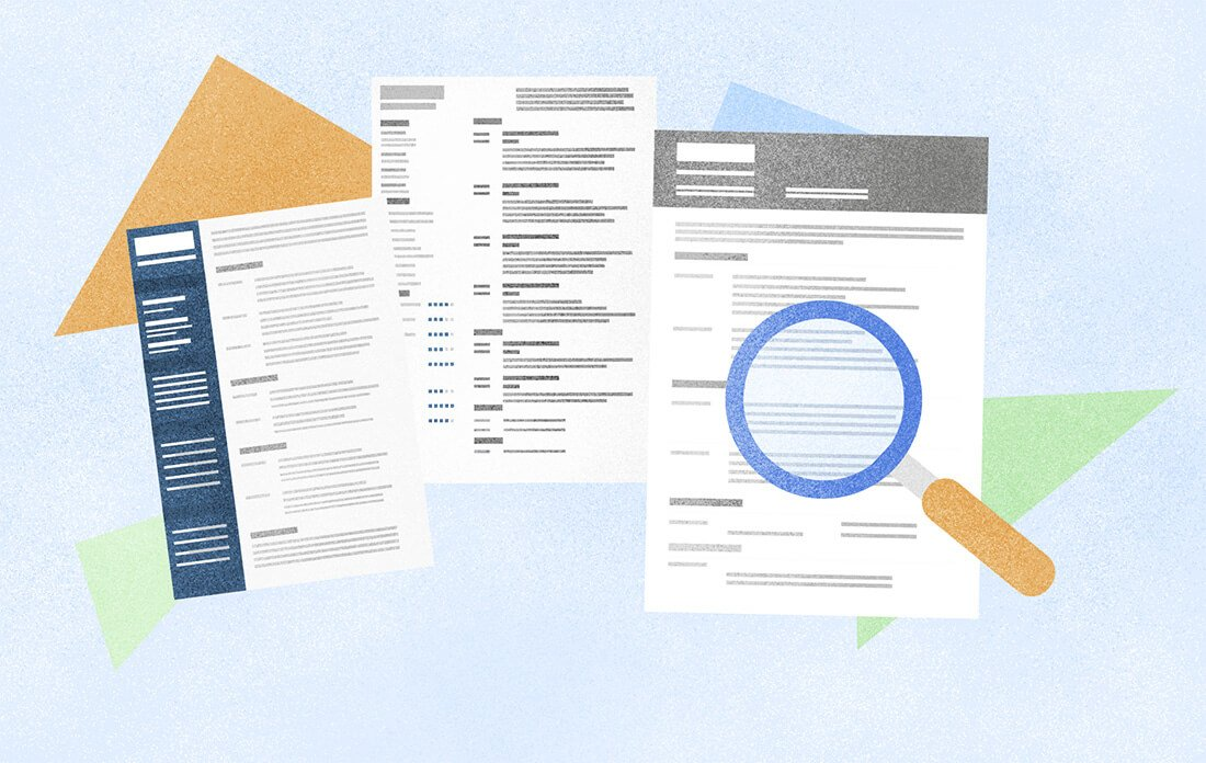 Pick a resume template