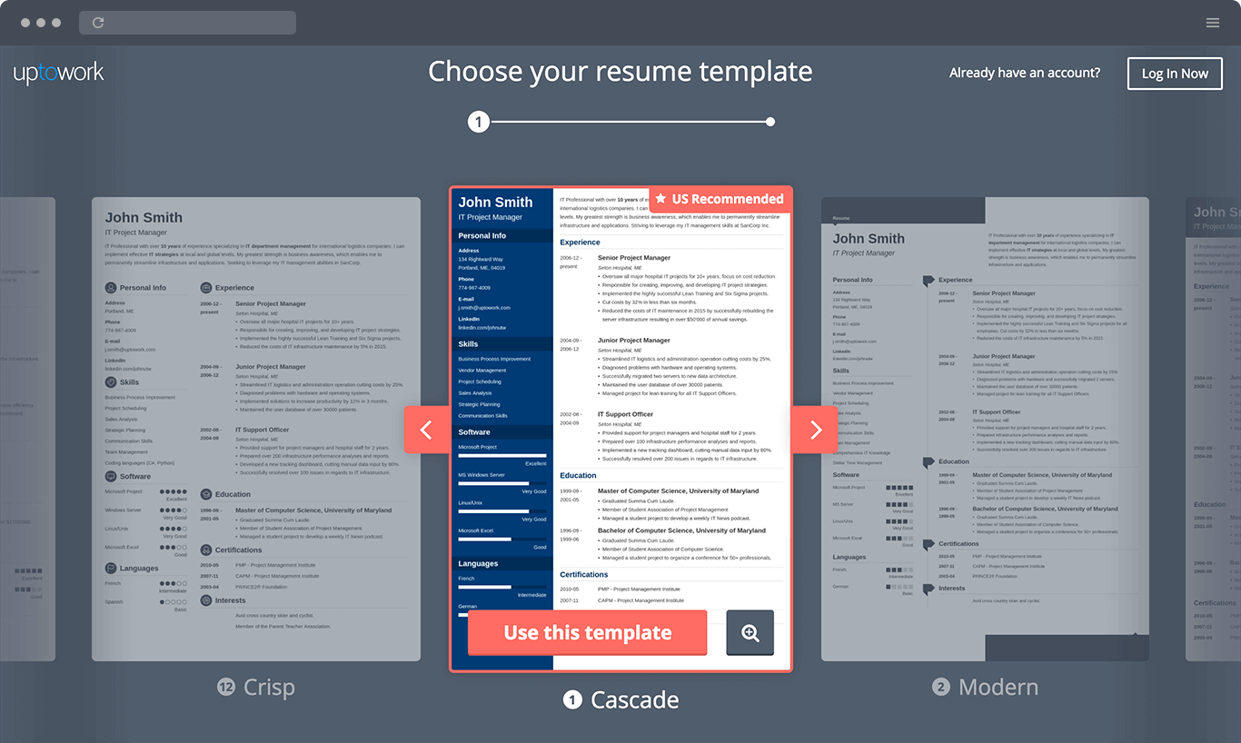 professional cv templates