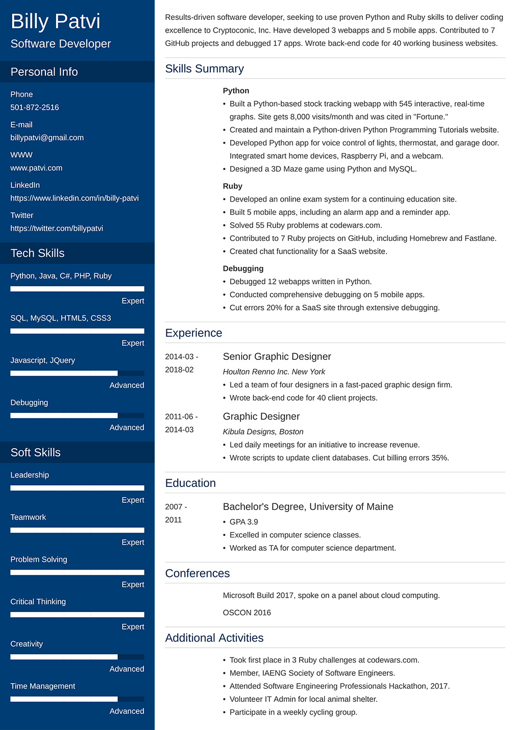 500 Good Resume Examples That Get Jobs In 2020 Free