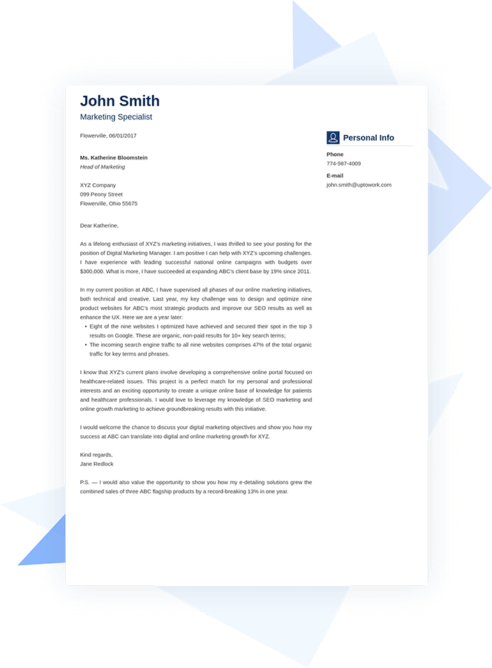 100+ Free Cover Letter Samples (Best Examples for Any Job)
