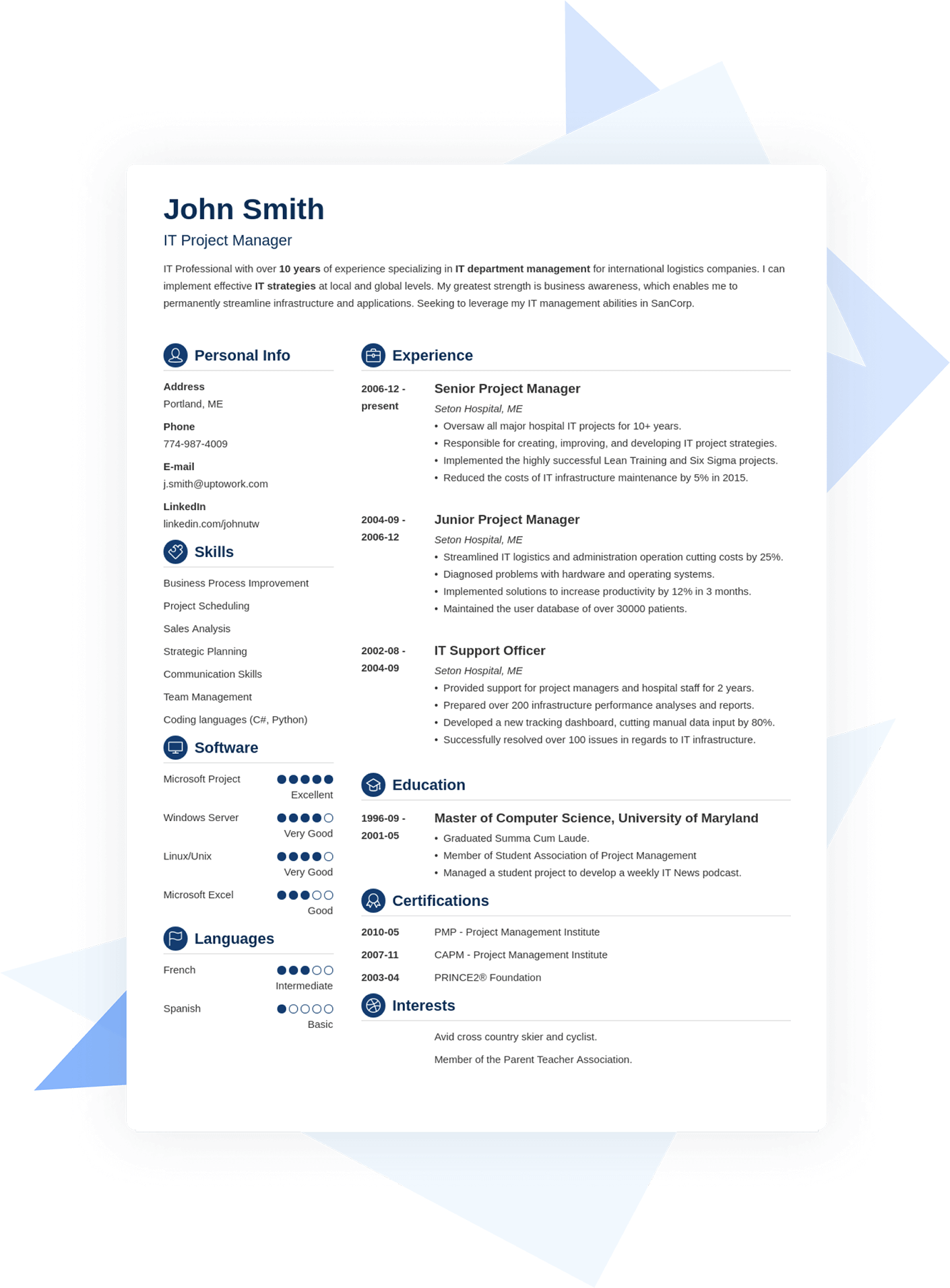 Example of a Resume with an explanation