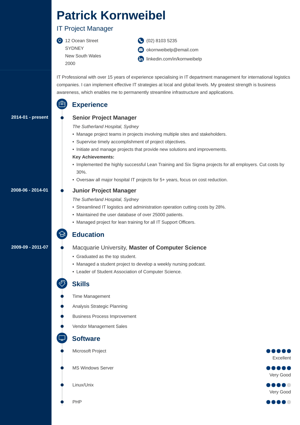 Zety's Concept Resume Template