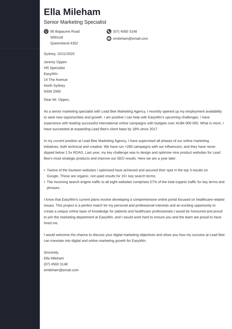 Concept cover letter template