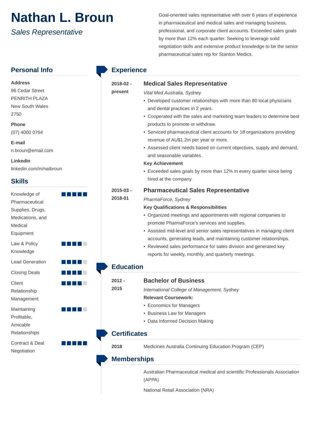 Zety's Muse CV Template