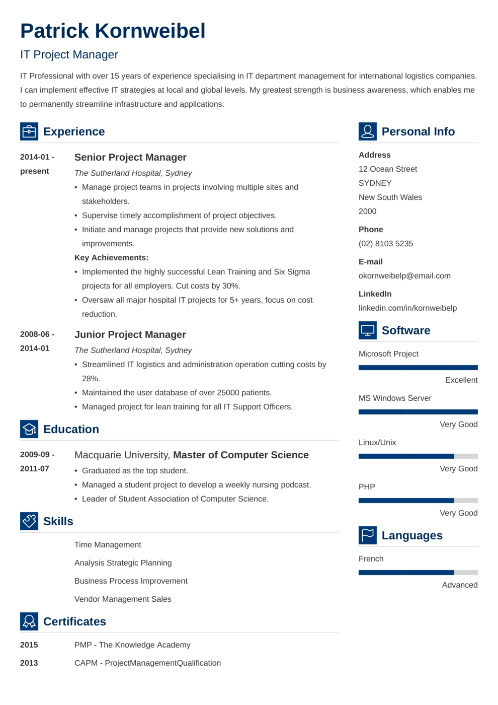 Zety's Vibes Resume Template