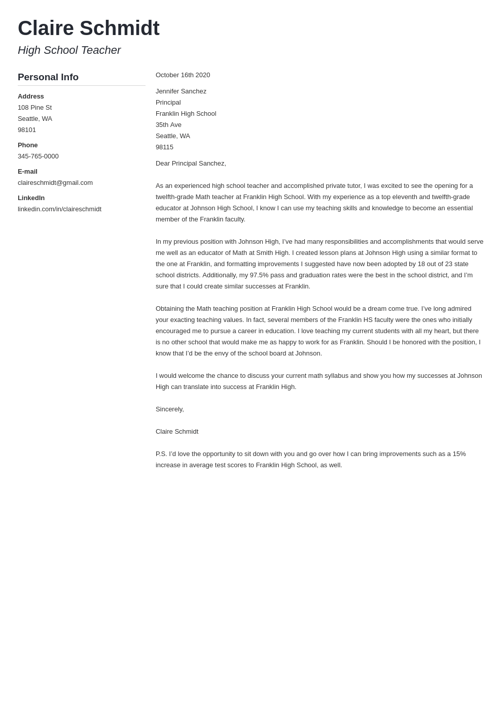 Cover Letter Generator Create A Cover Letter Online For Free