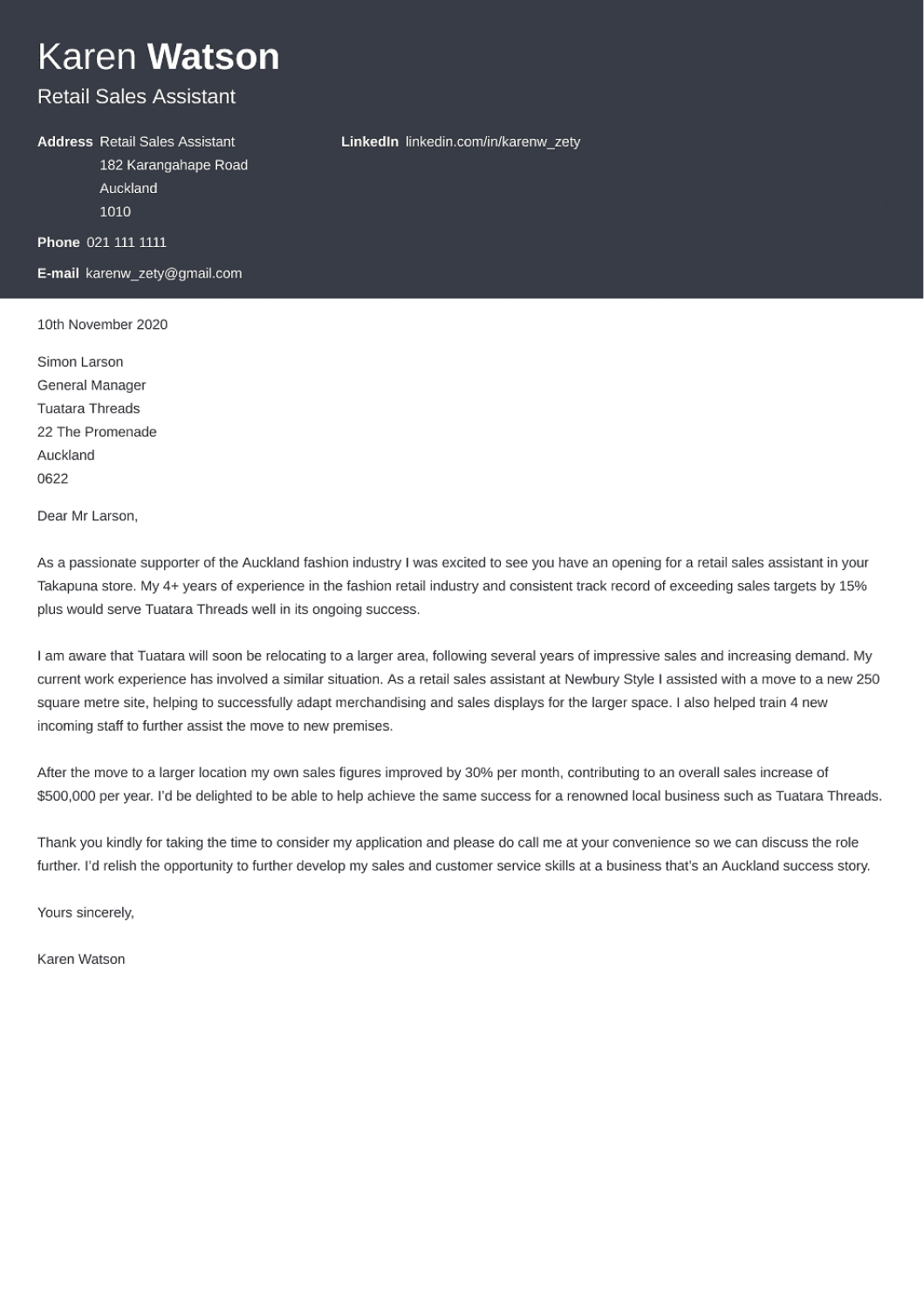 Professional cover letter Template Diamond