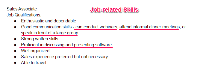 work skills for resume