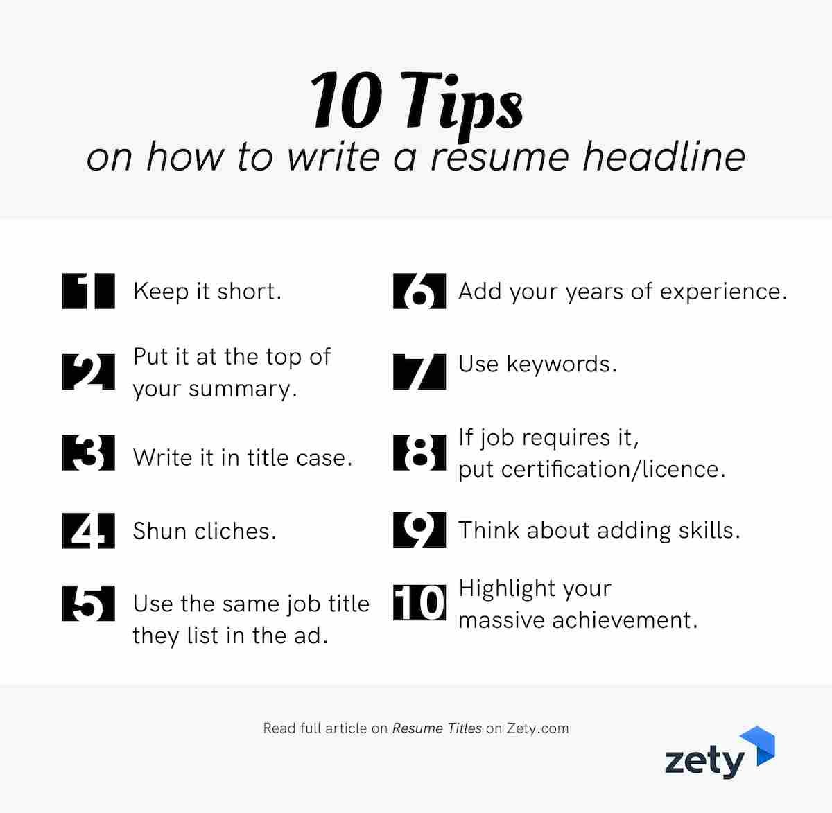 How to Write a Resume Headline