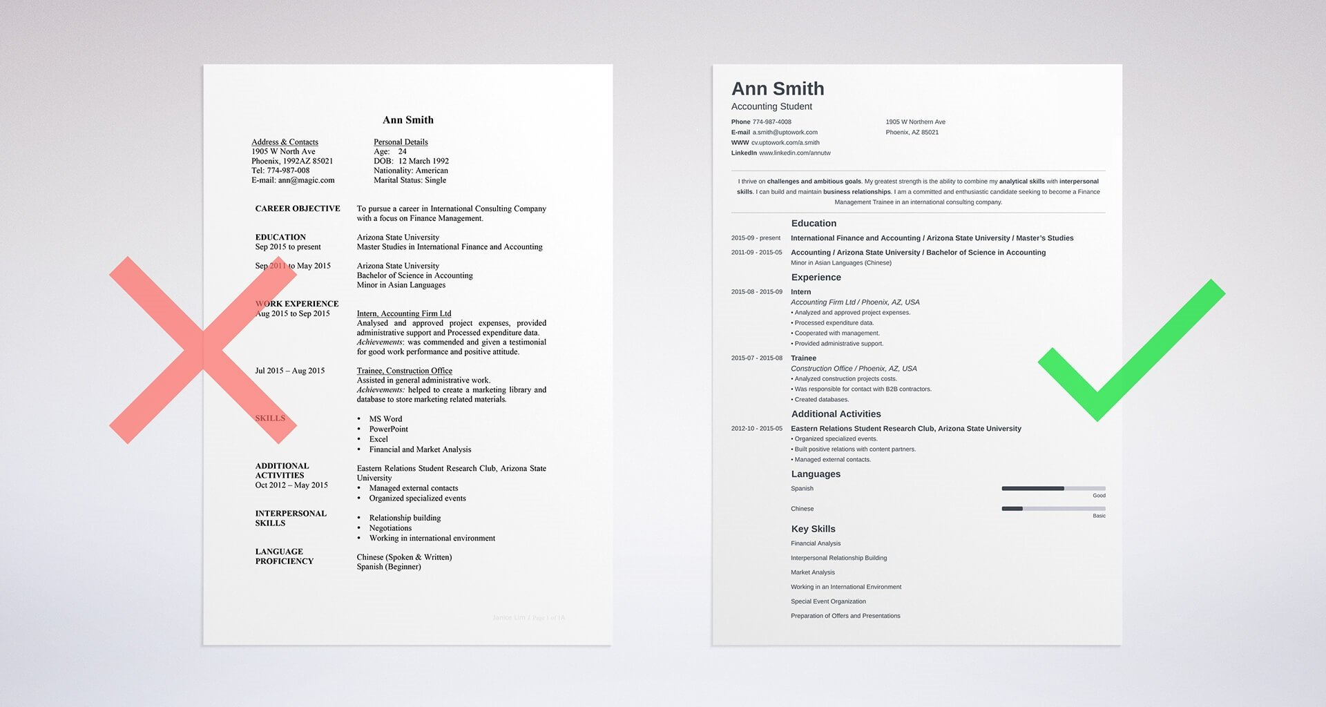 great resume template from our builder