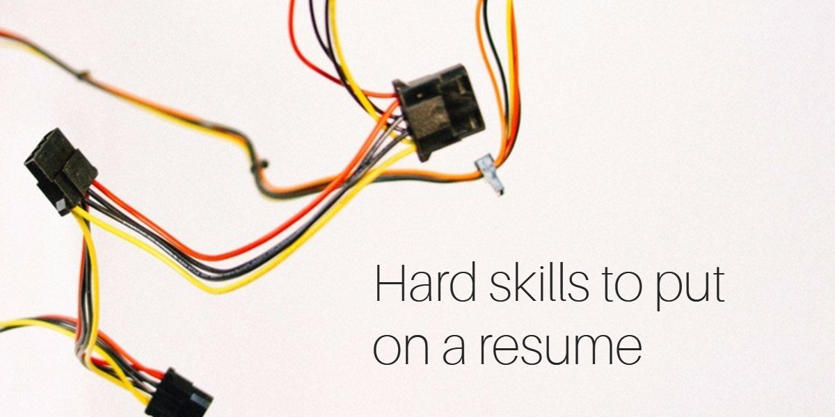 list of hard skills to put on a resume