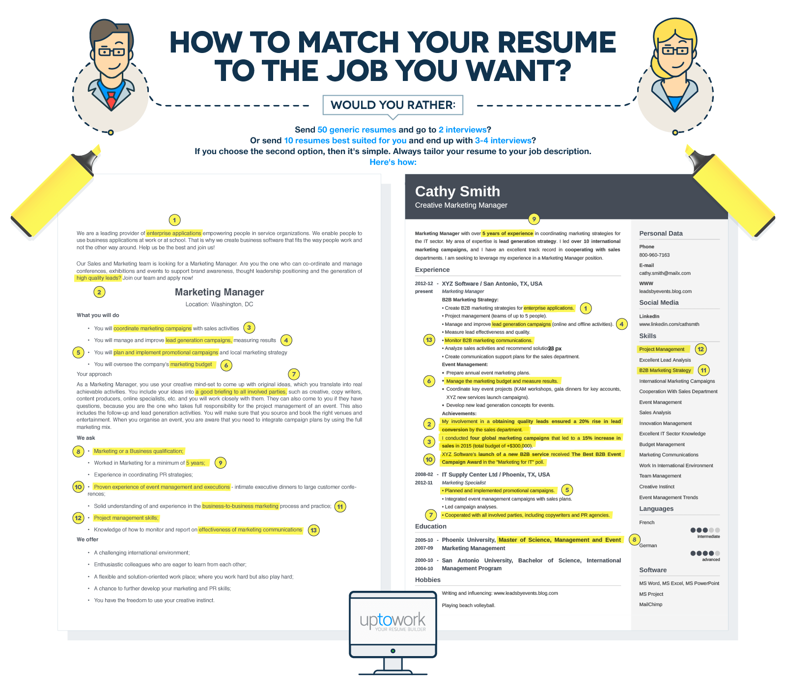 tips on how to tailor your resume to a job offer and you will be sure that you ve done a good job of tailoring before you send your resume to a hiring manager