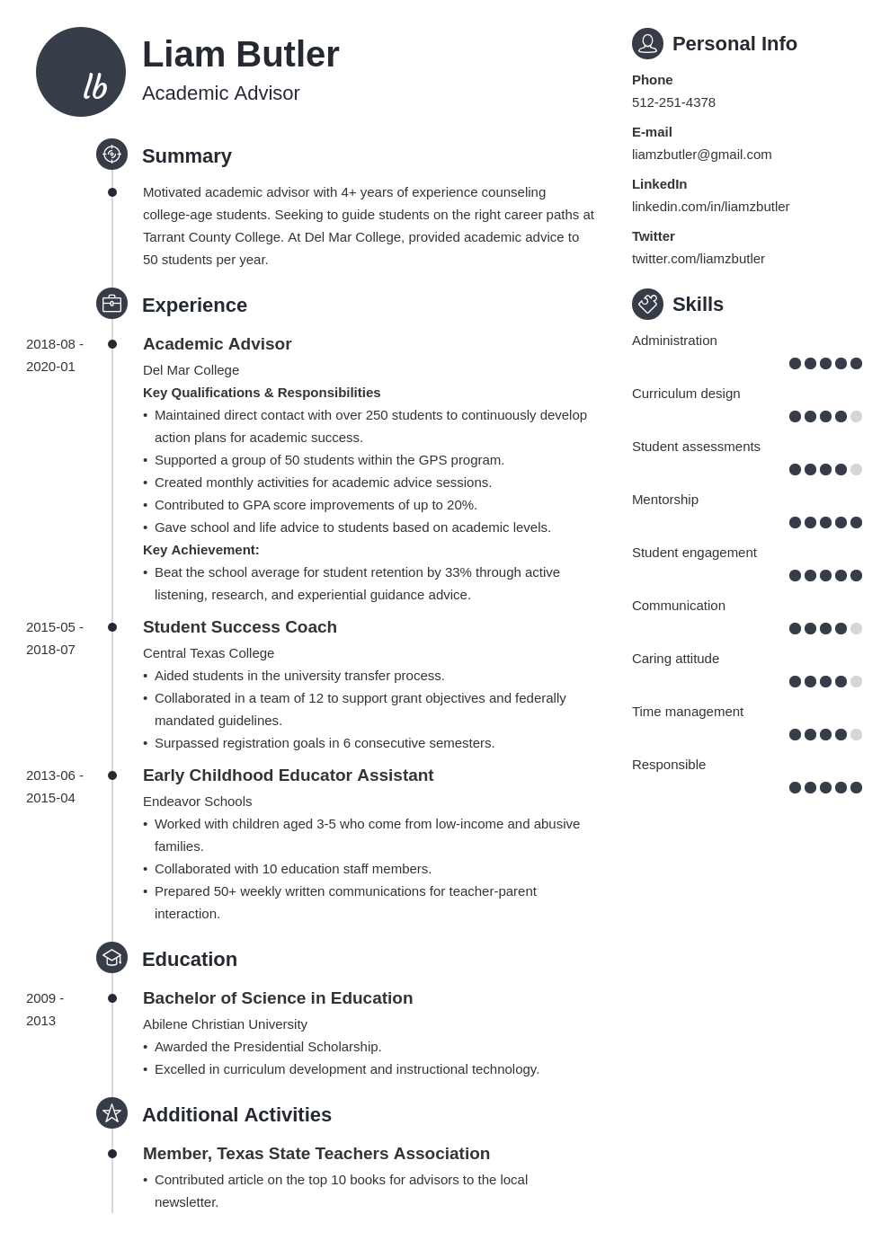 academic advisor resume example template primo