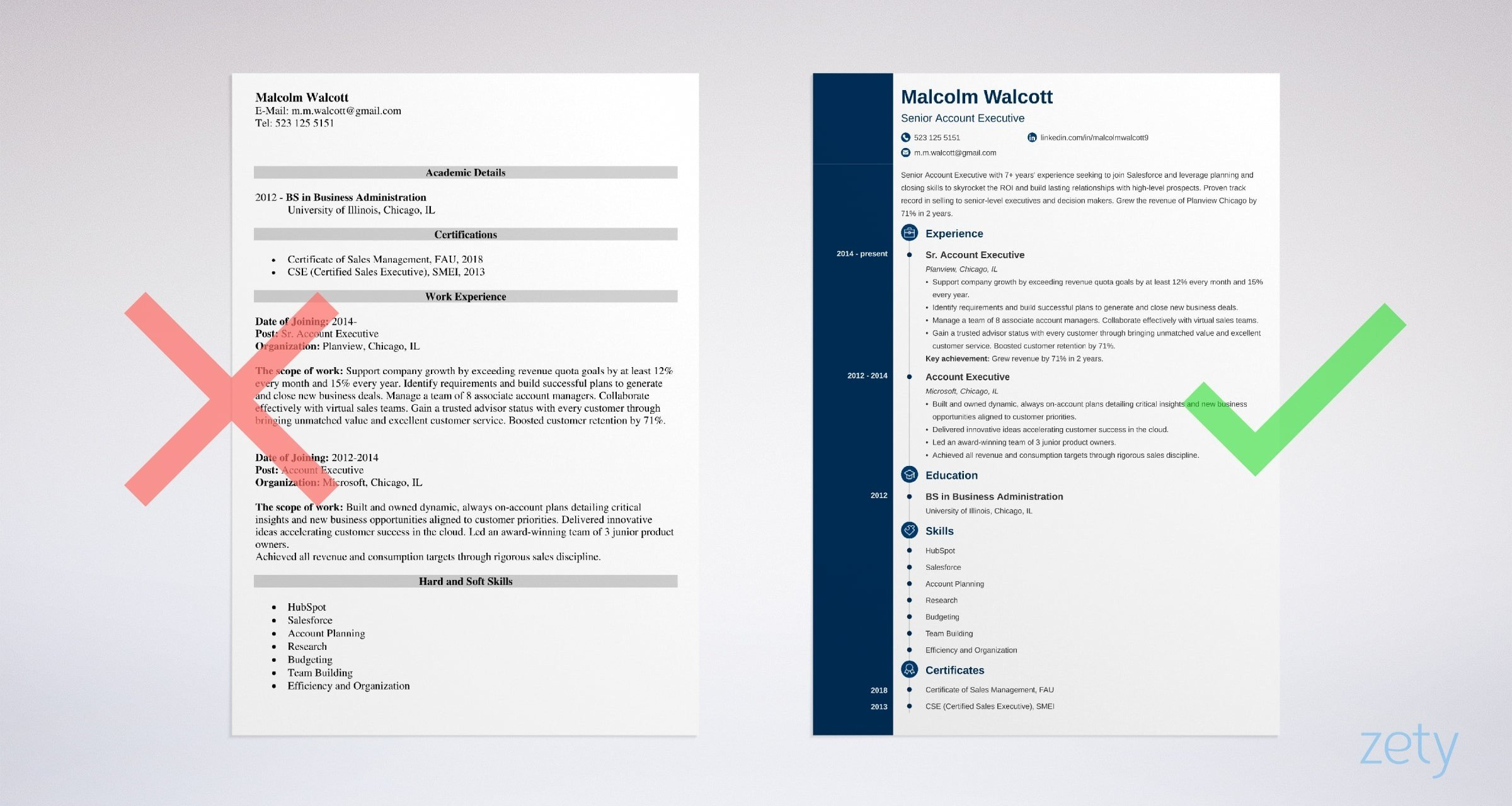 account executive resume templates