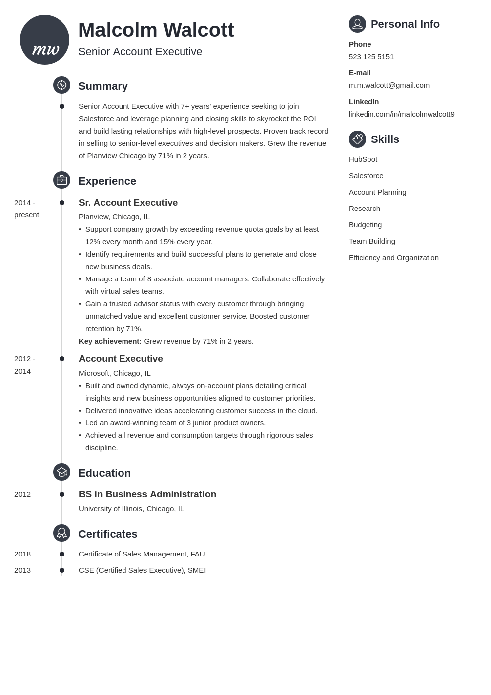 account executive resume example template primo