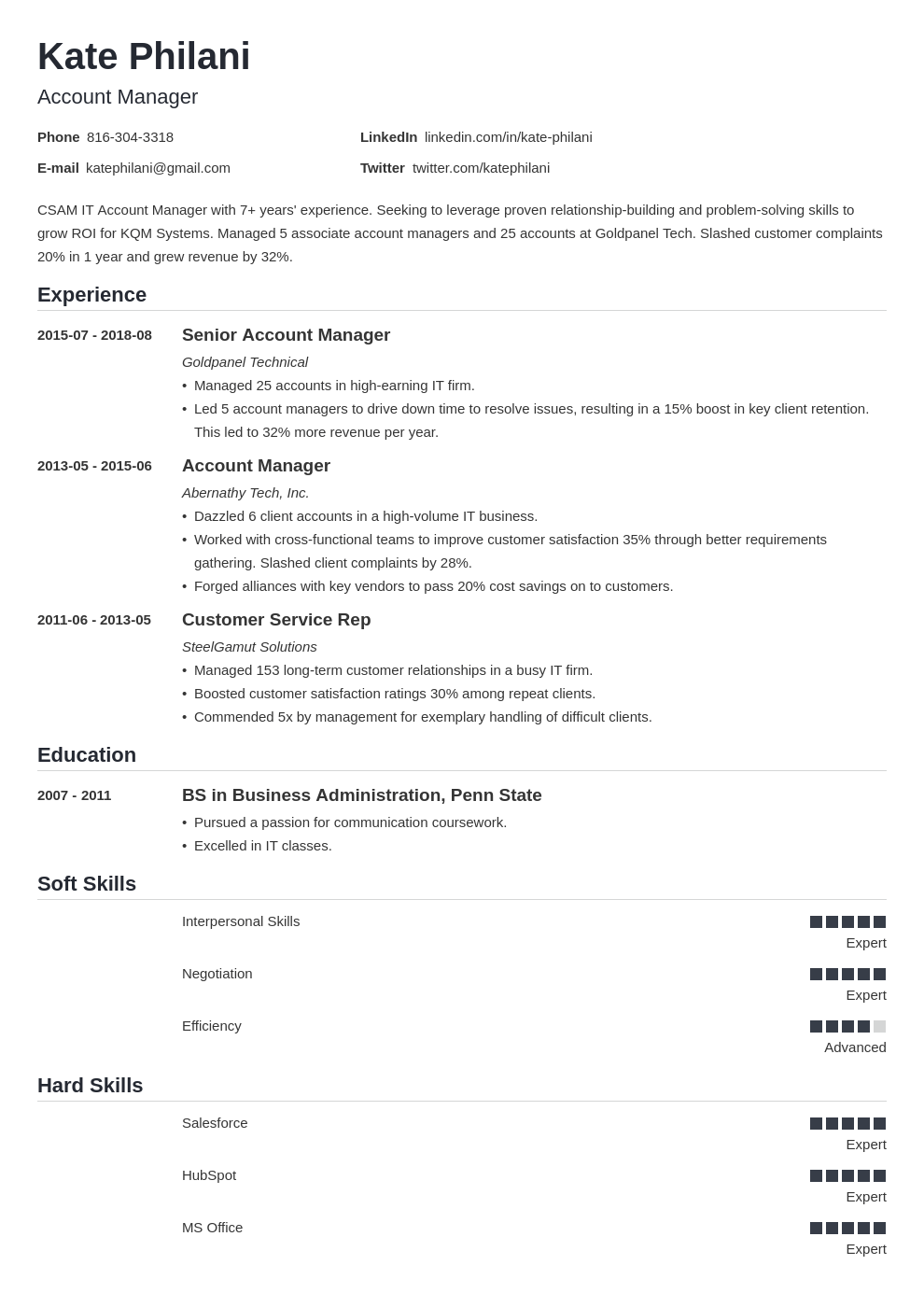 account manager resume example template nanica