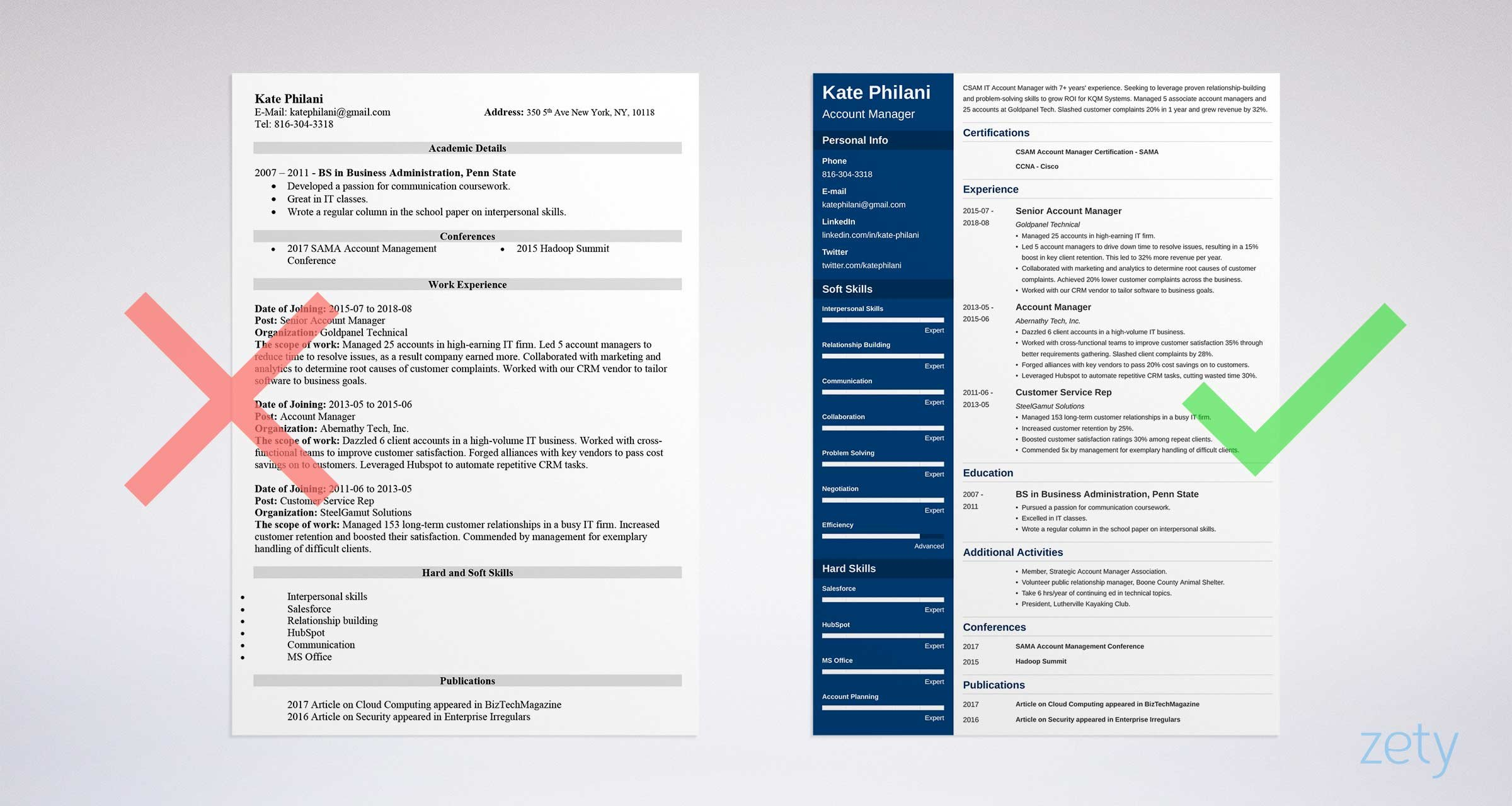 Account Manager Resume: Sample and Writing Guide (20+ Examples)