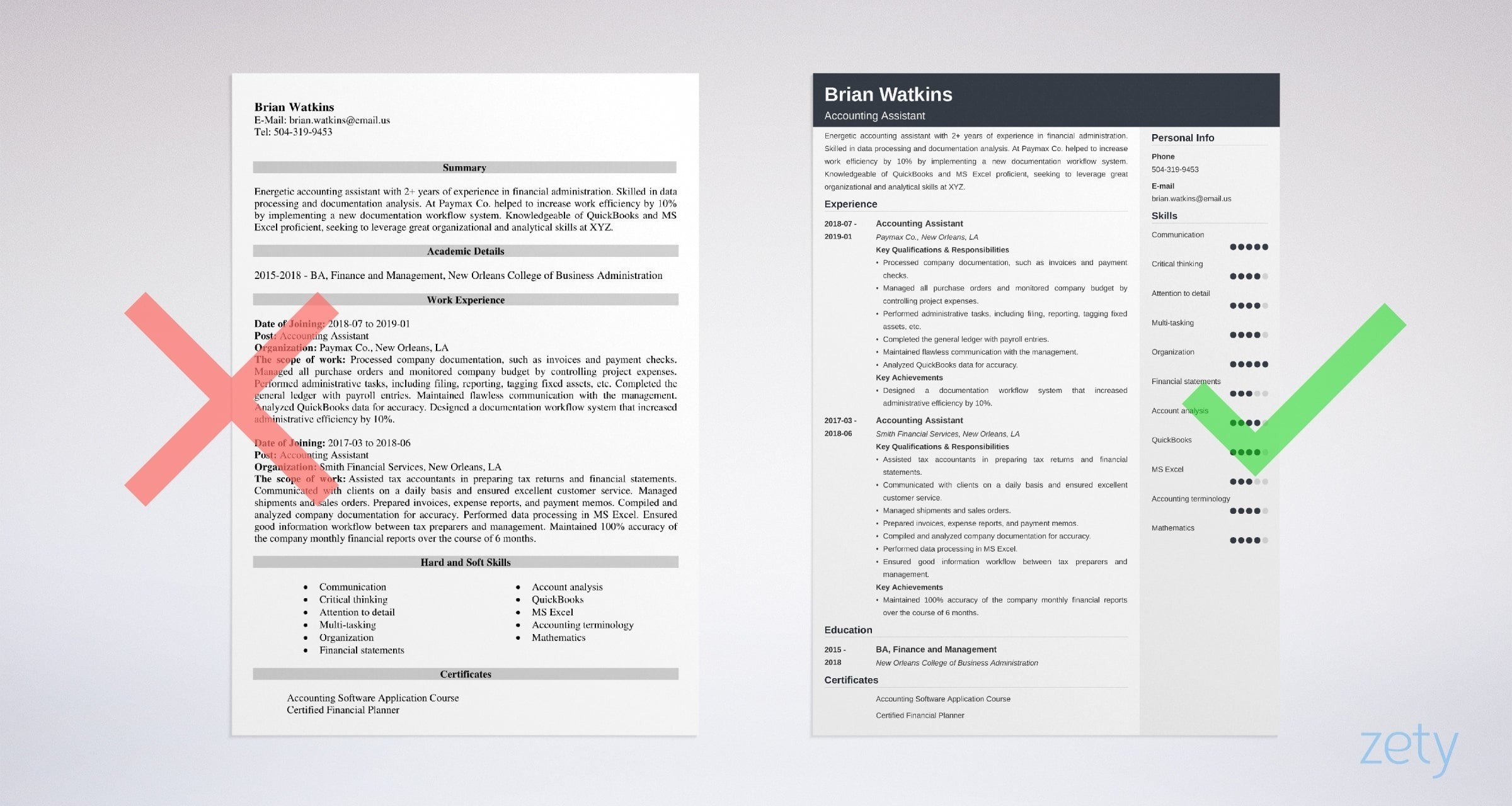 accounting assistant resume templates