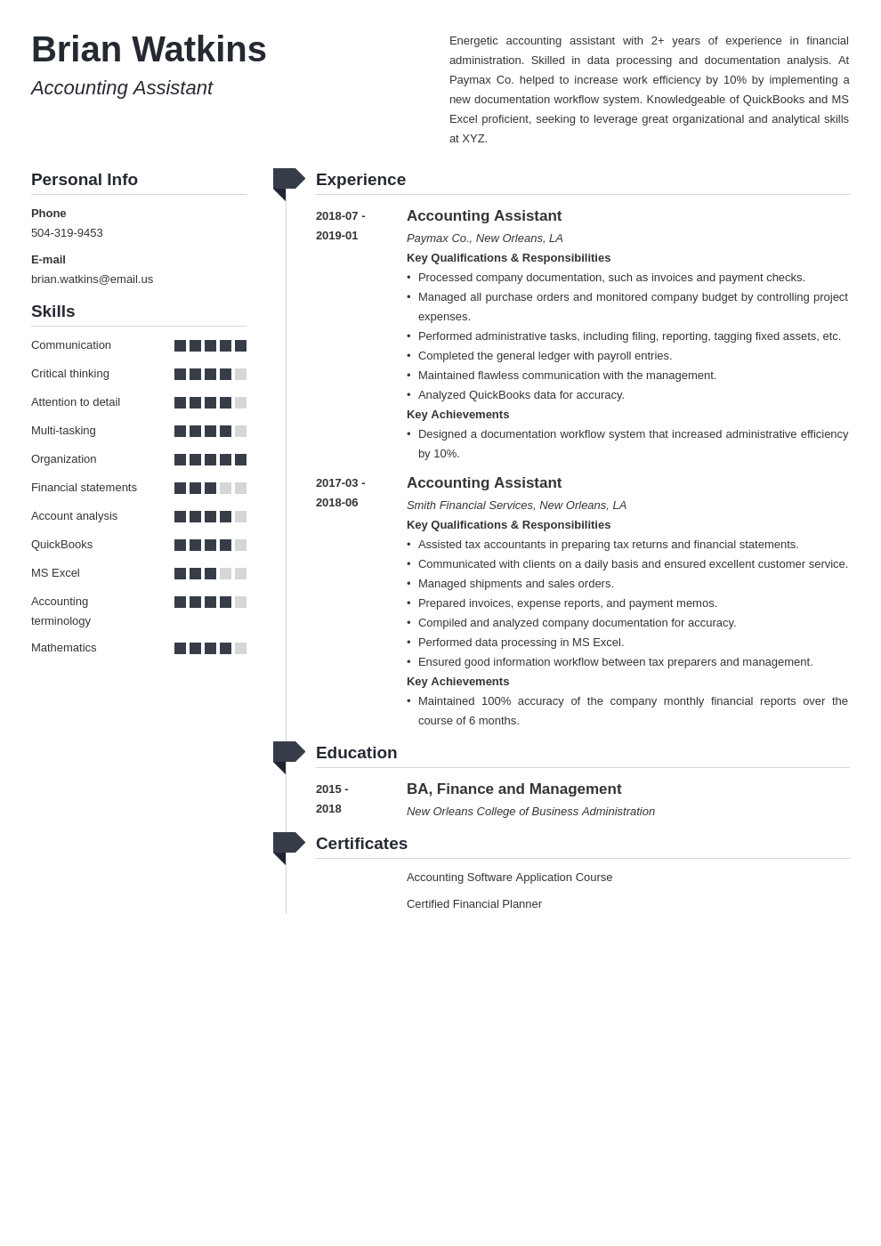accounting assistant resume example template muse
