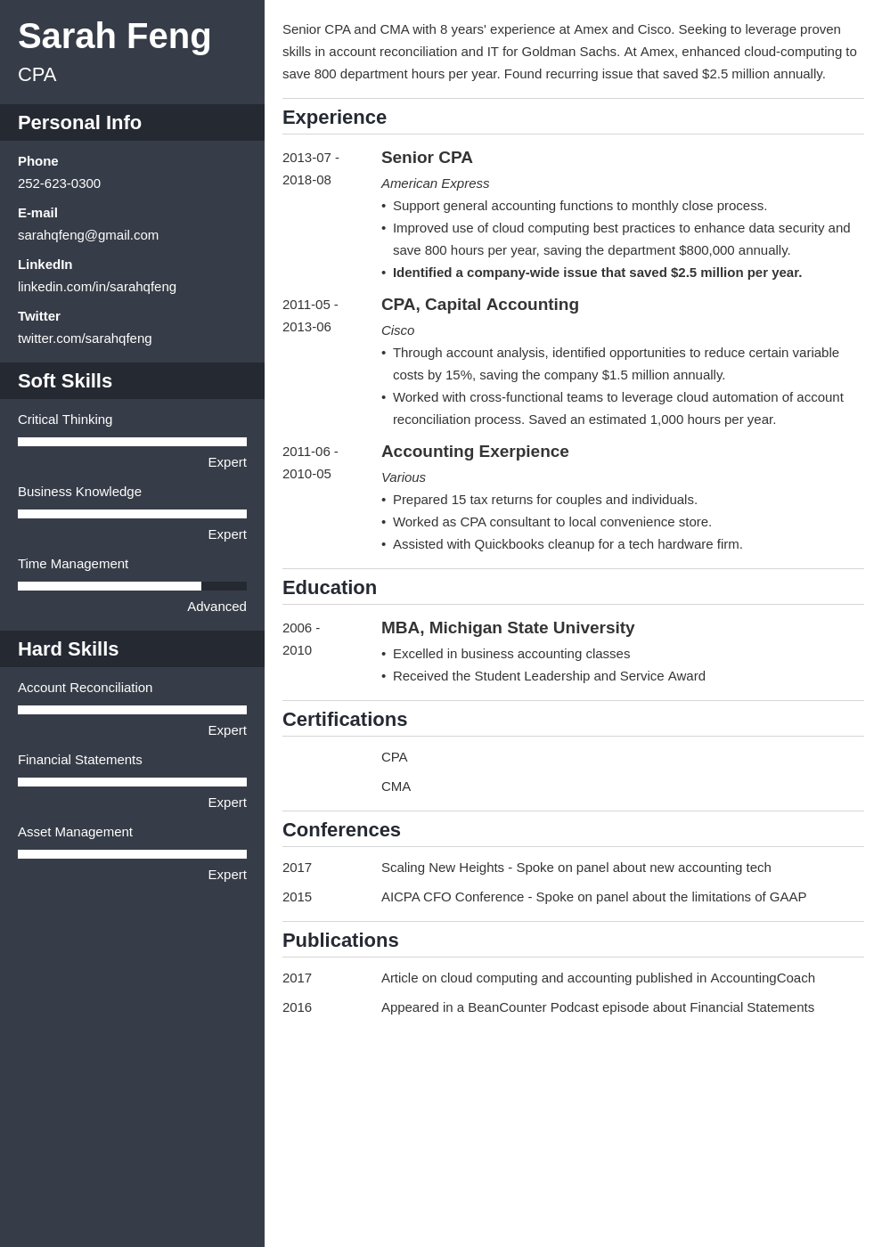 accounting resume example template cascade