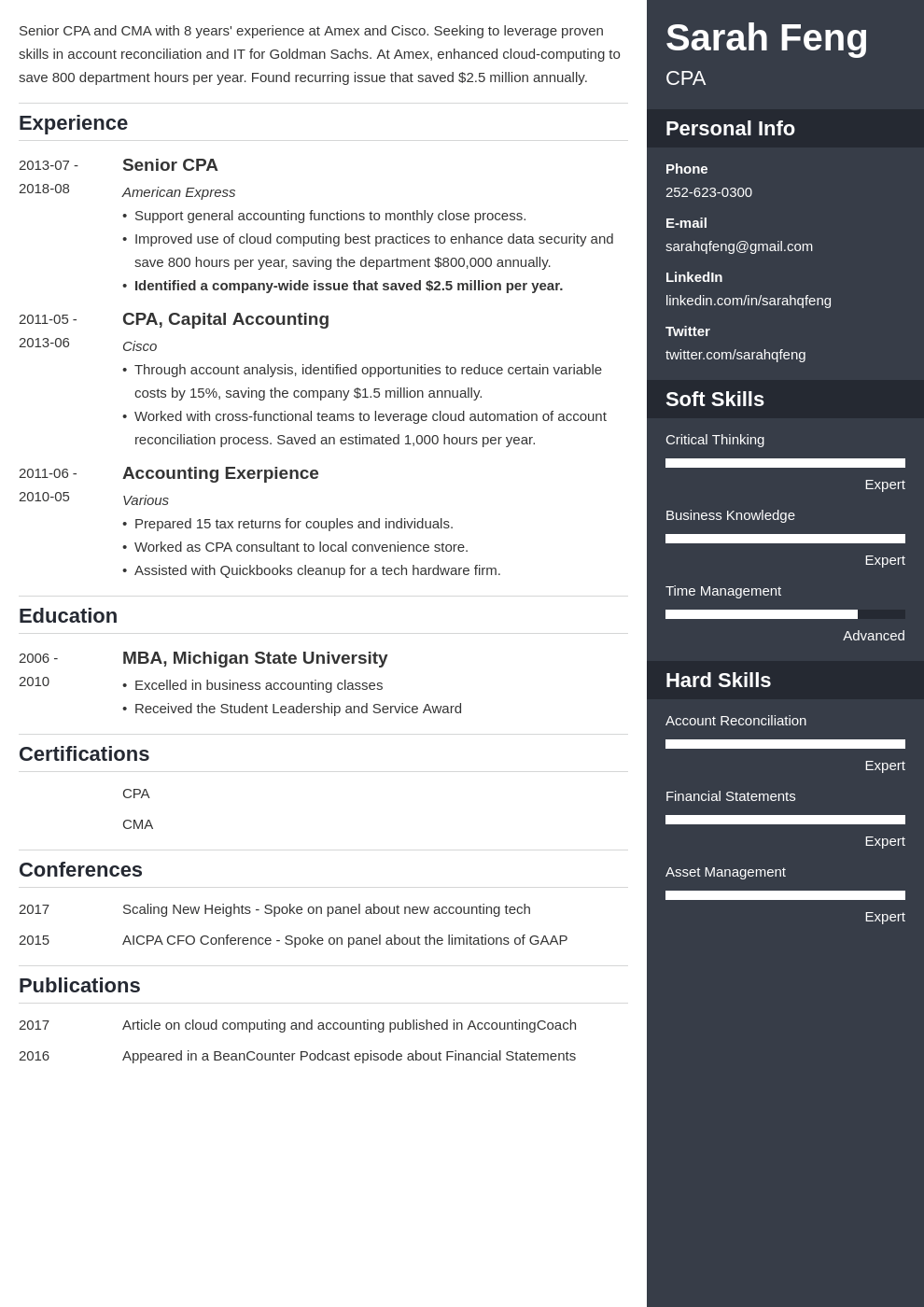accounting resume example template enfold