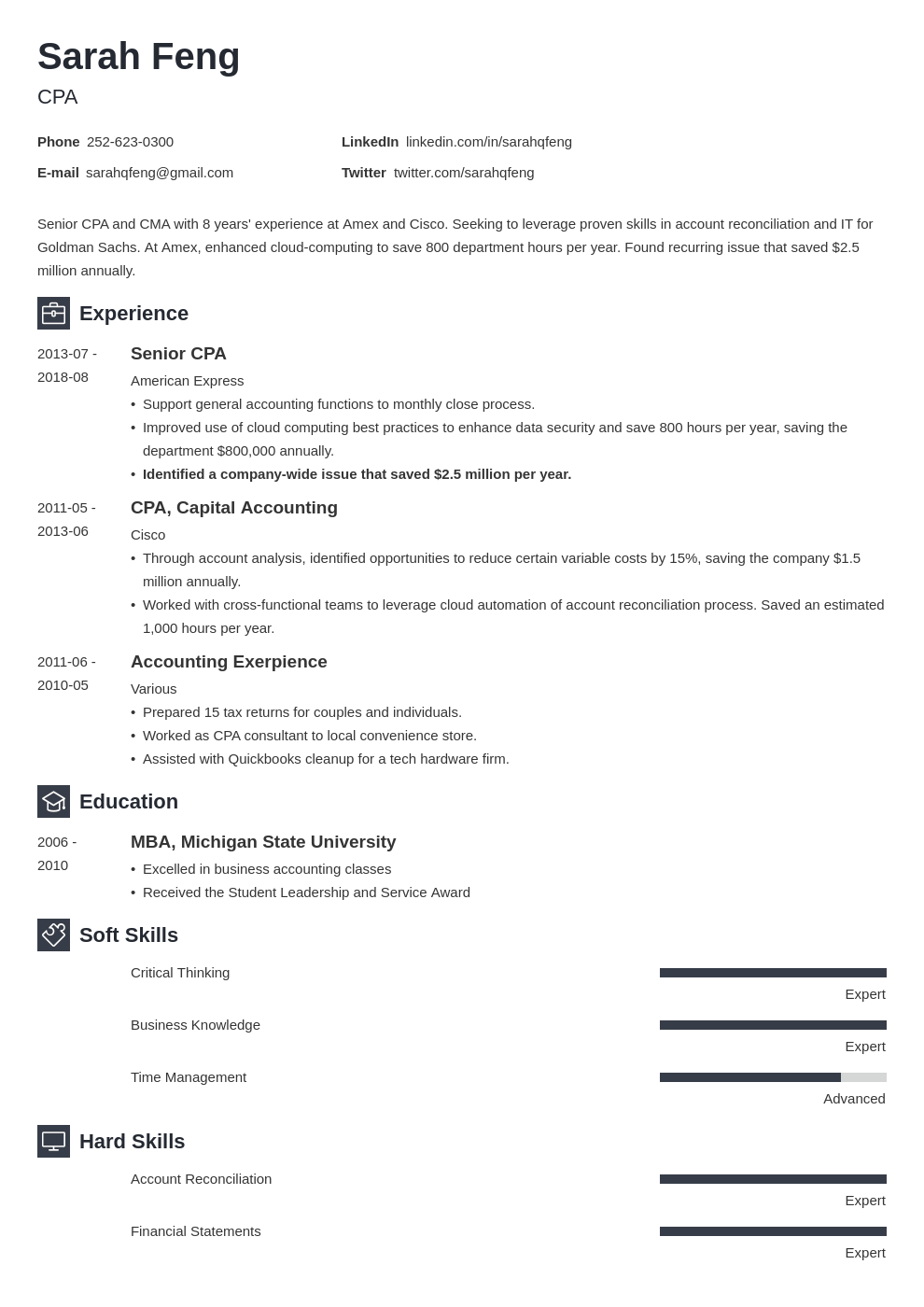 accounting resume example template newcast