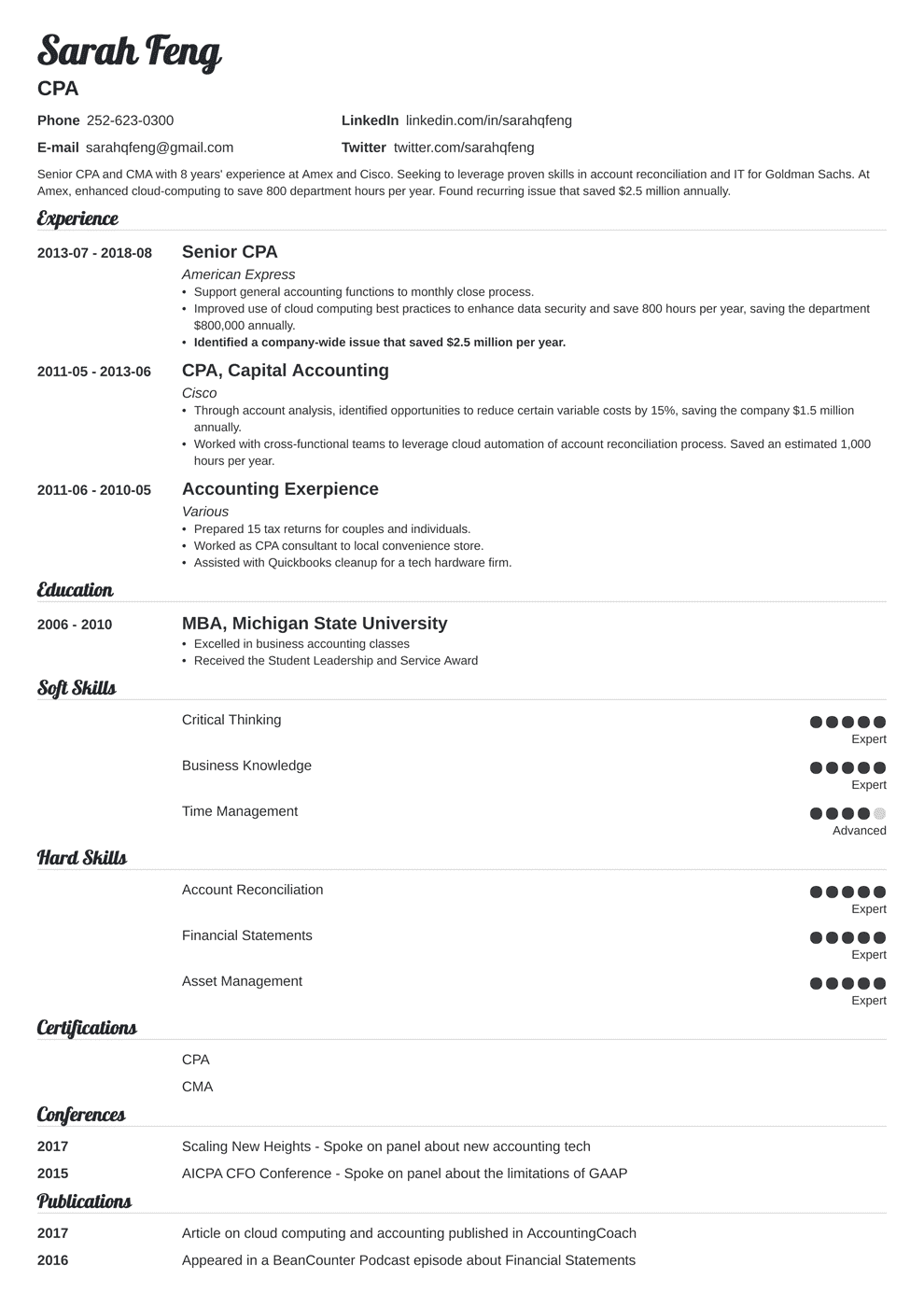 Accounting Resume Examples [from Objective to Skills in 7 Tips]