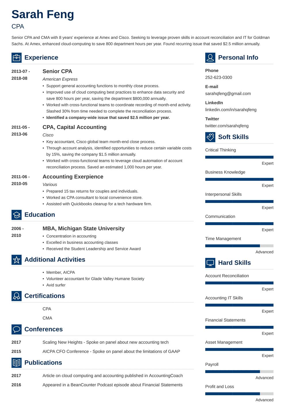 Accounting Resume: Sample and Complete Guide (20+ Examples)