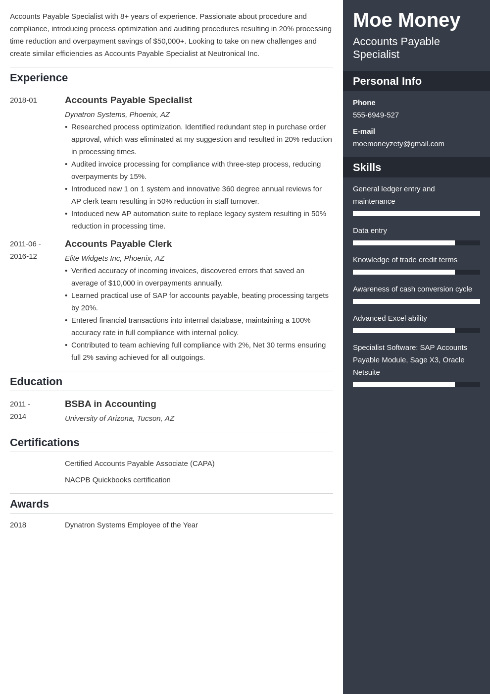 accounts payable resume example template enfold