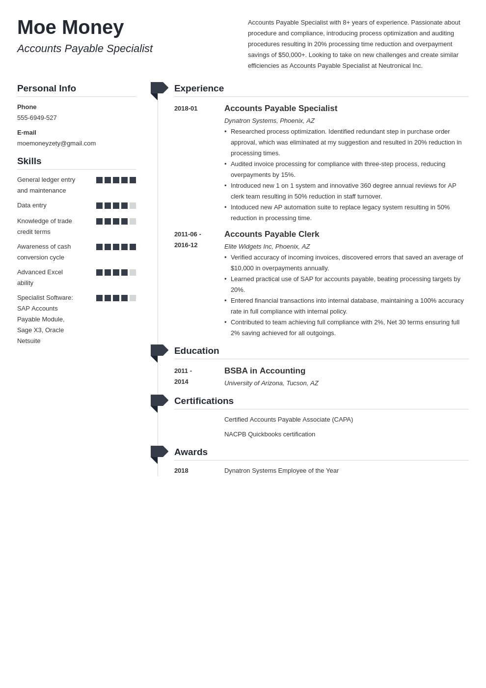 accounts payable resume example template muse