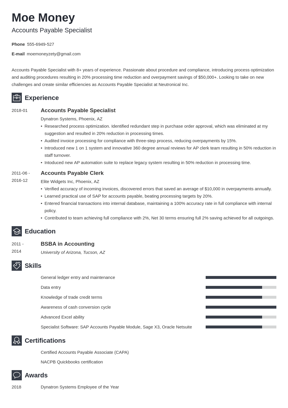 accounts payable resume example template newcast