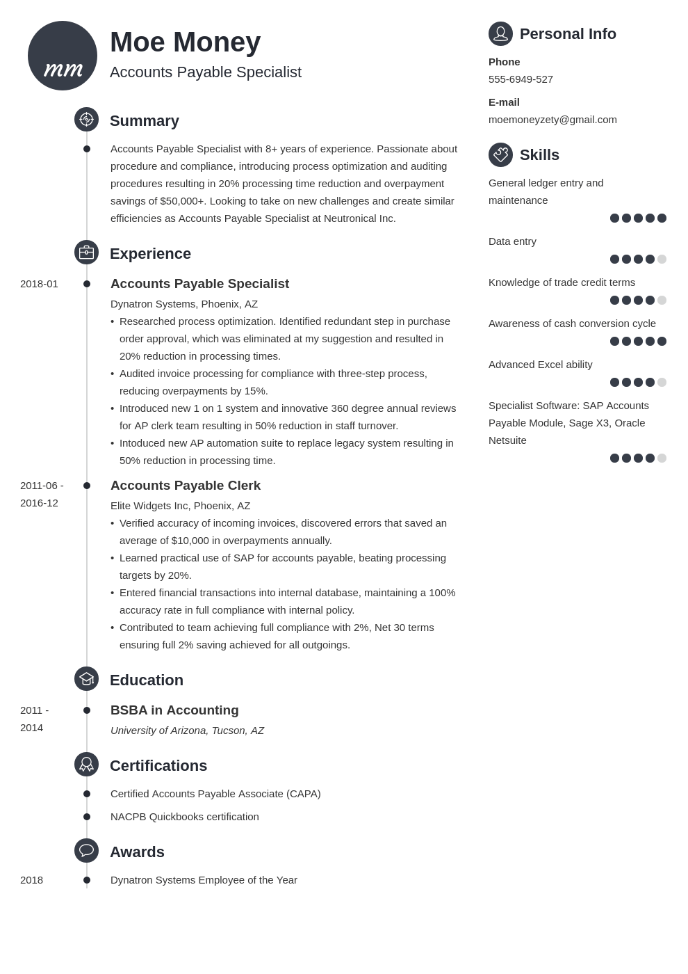 accounts payable resume example template primo