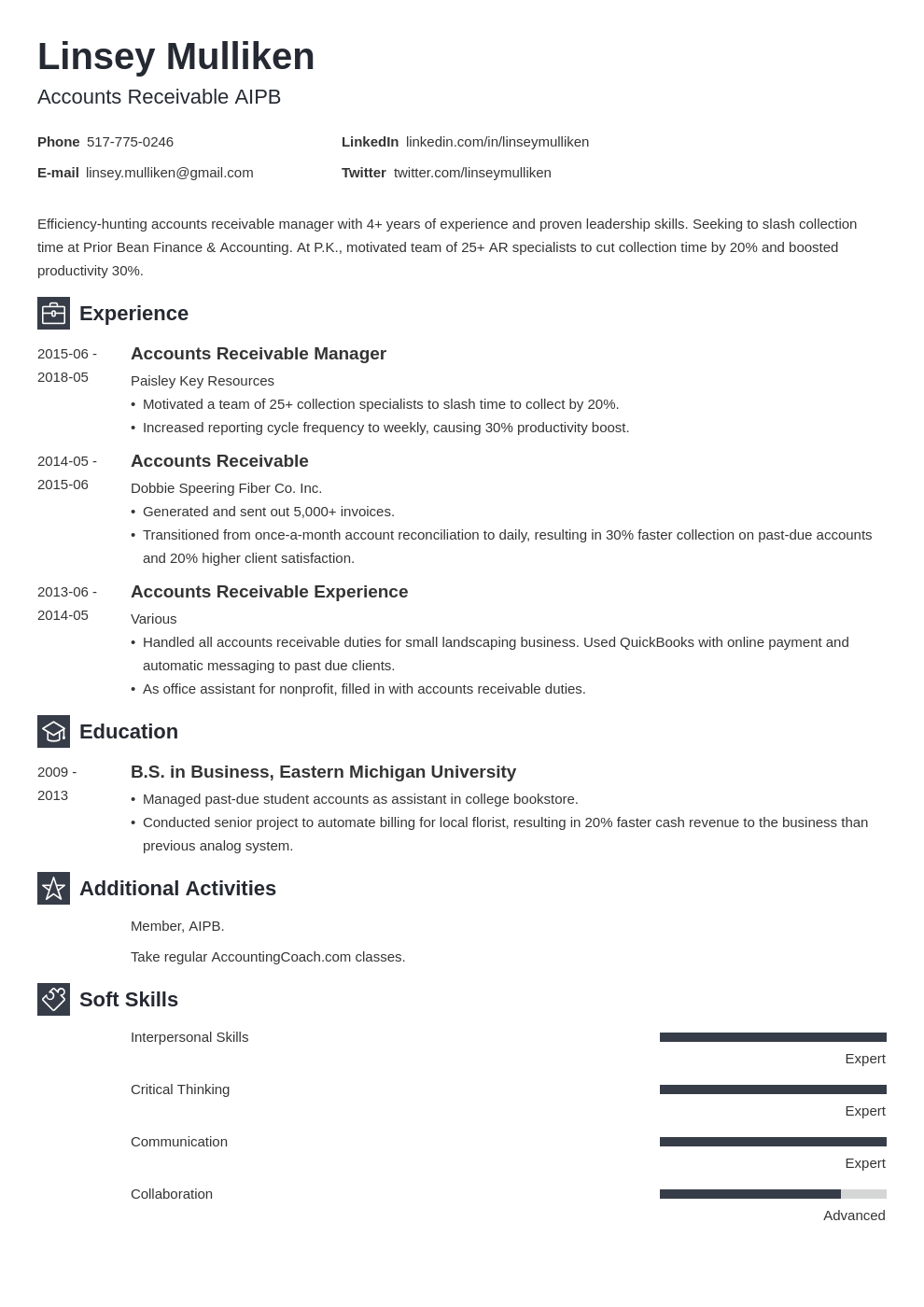 accounts receivable resume example template newcast