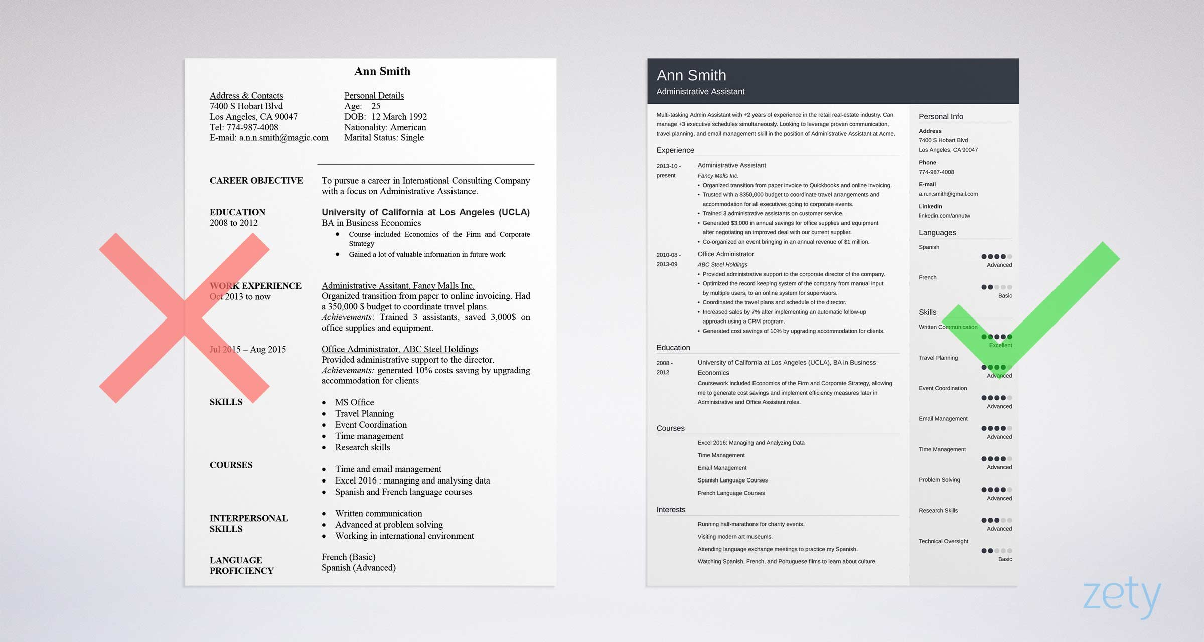 Great Administrative Assistant Cover Letter And Resume Sample