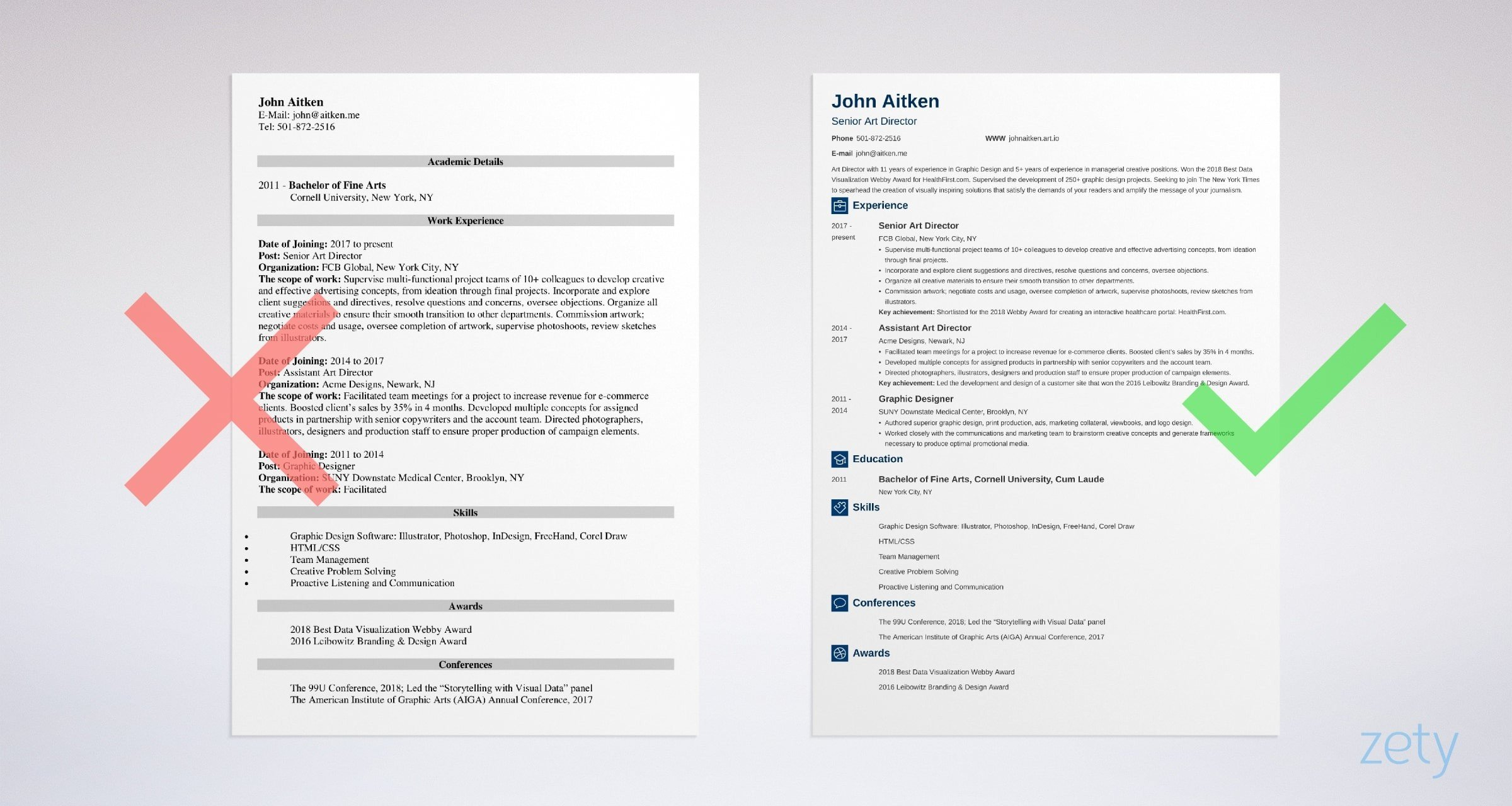 art director resume templates