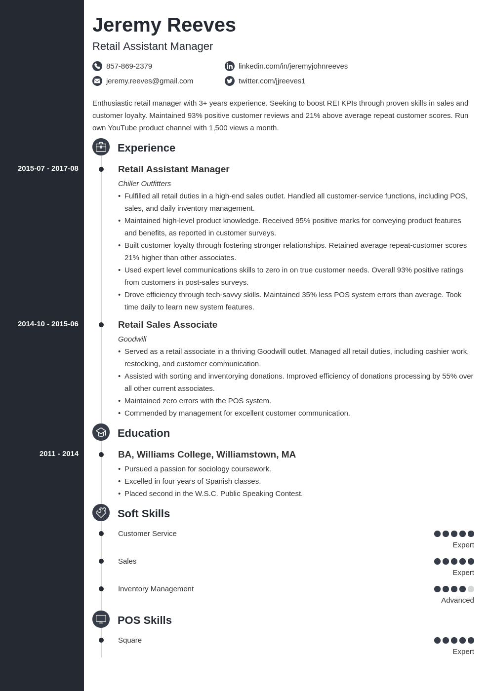 assistant manager resume example template concept