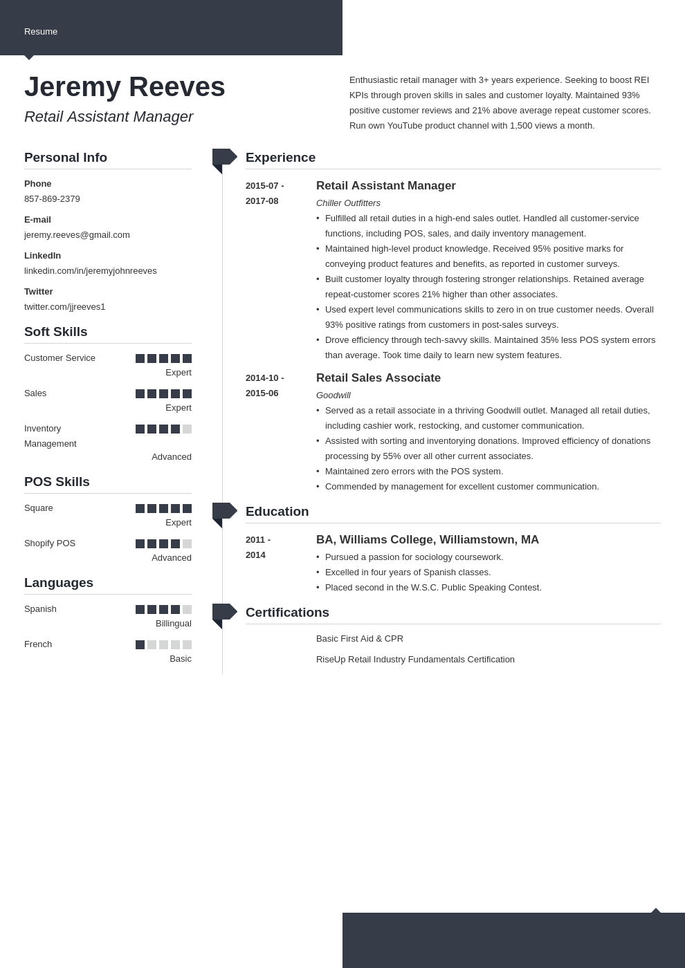 assistant manager resume example template modern