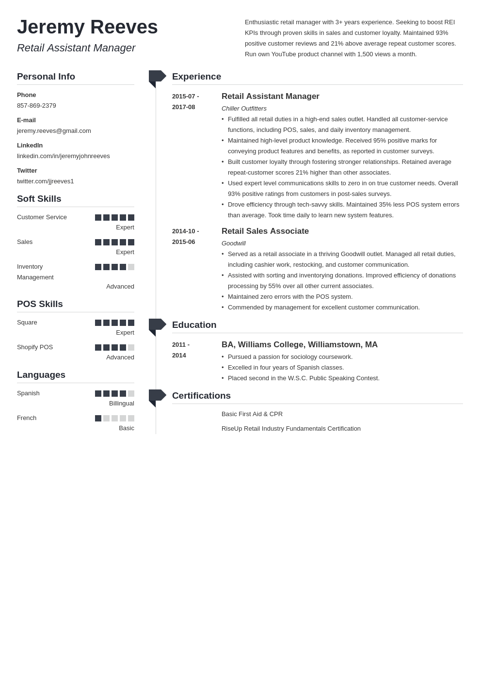 assistant manager resume example template muse
