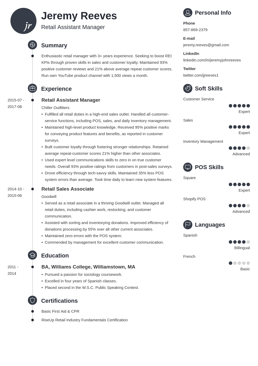 assistant manager resume example template primo