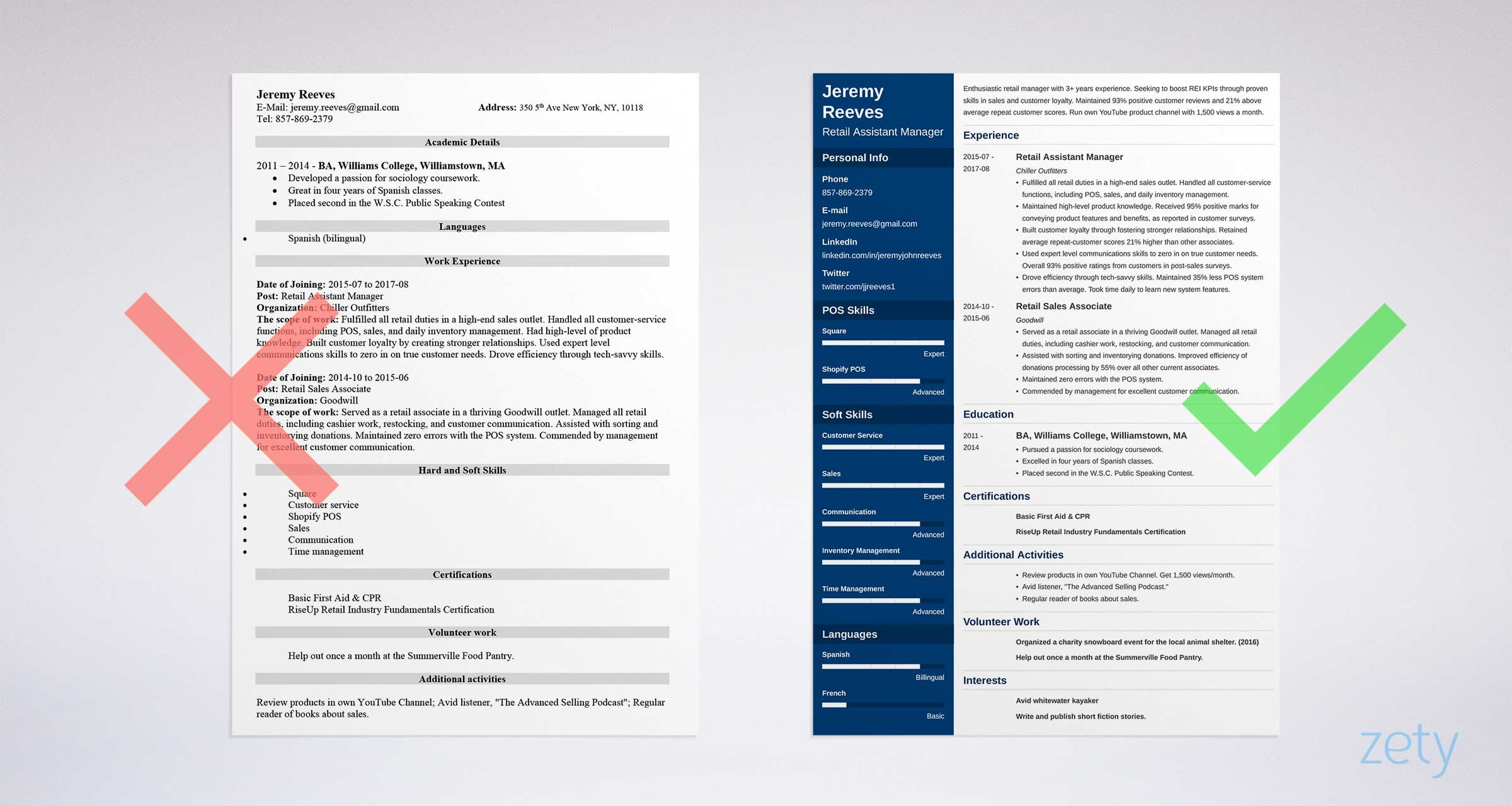 assistant manager resume templates