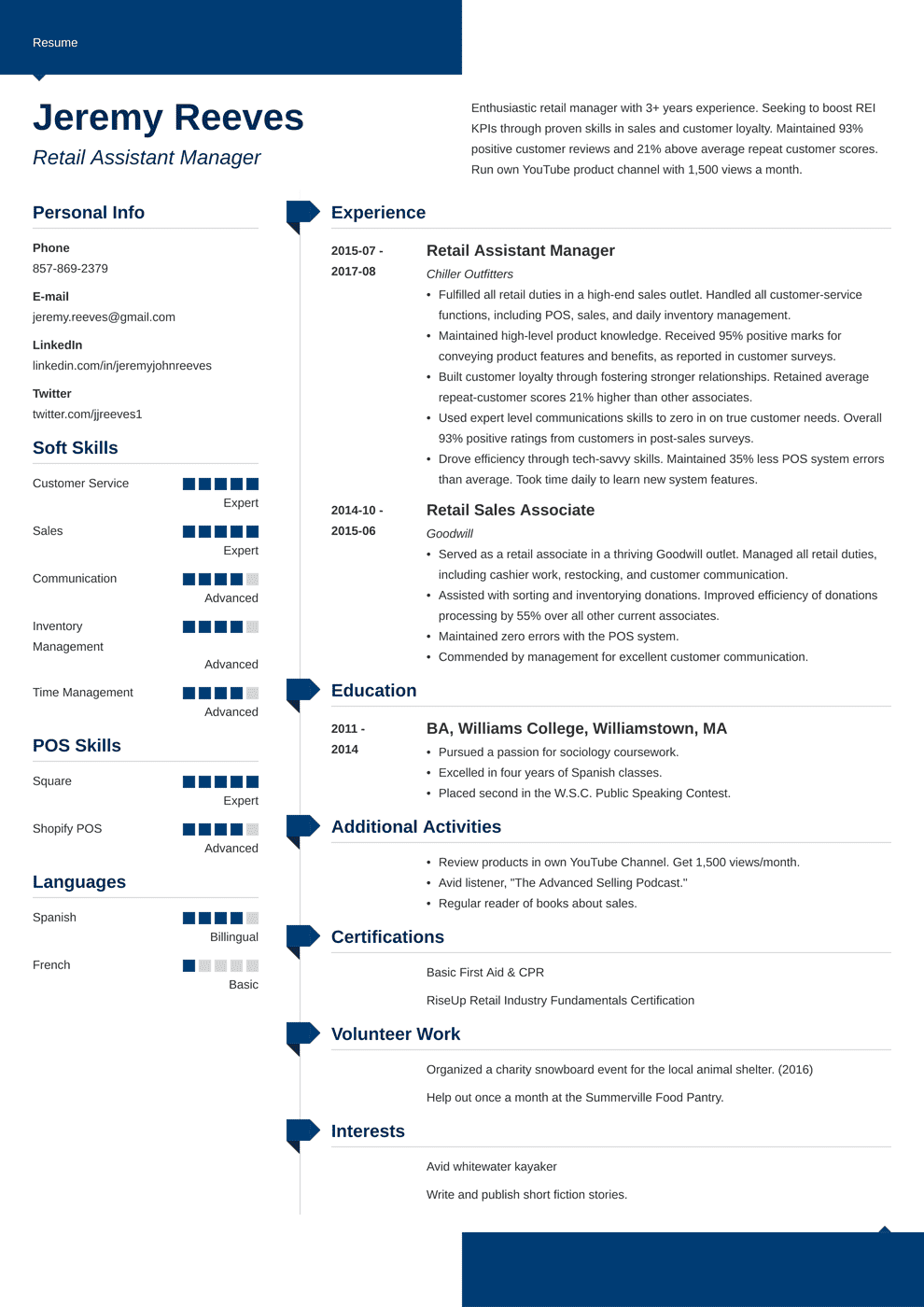 Assistant Manager Resume: Sample & Complete Guide [20+ Examples]
