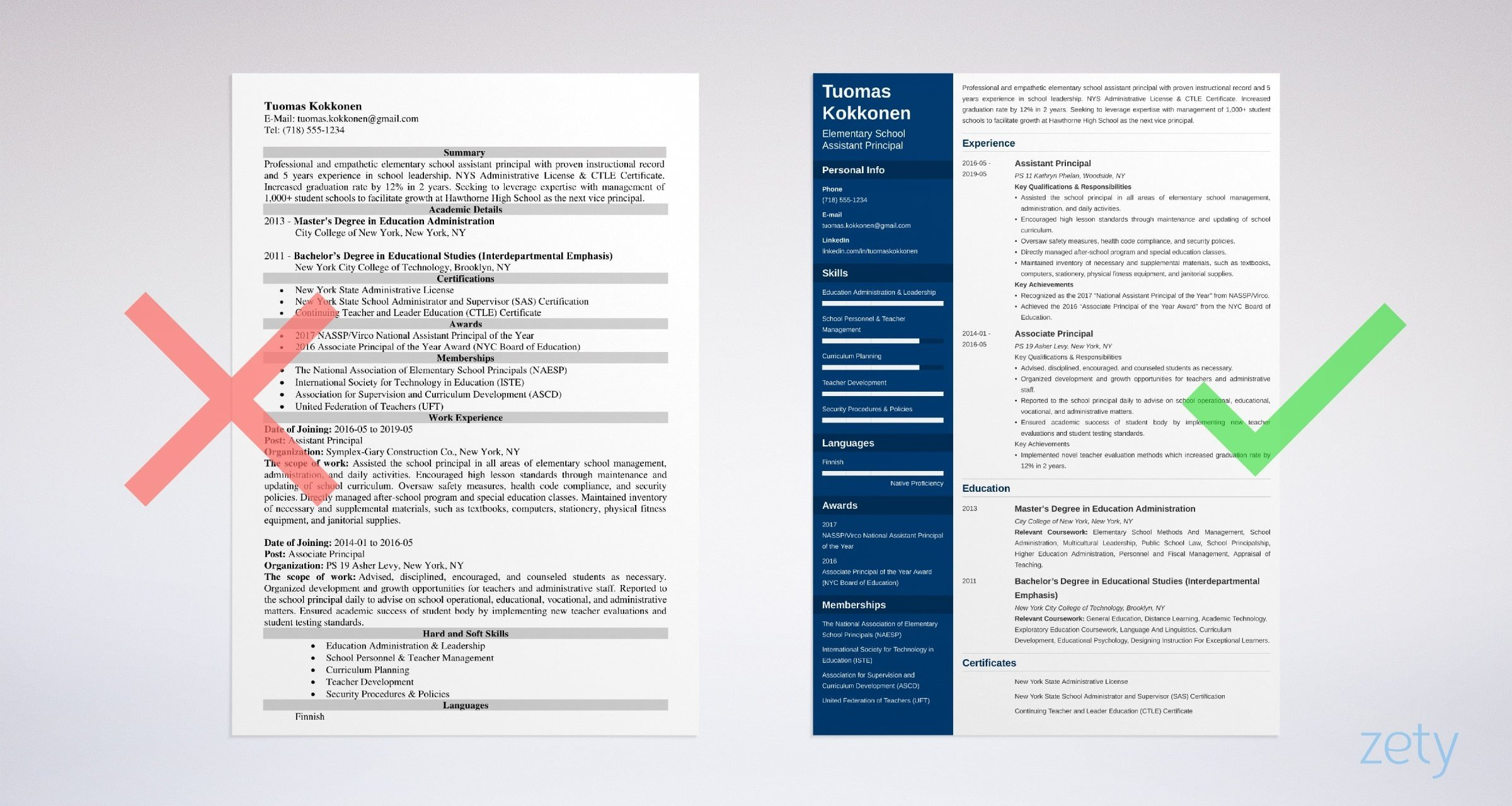 Assistant Principal Resume Sample Complete Guide 20 Tips
