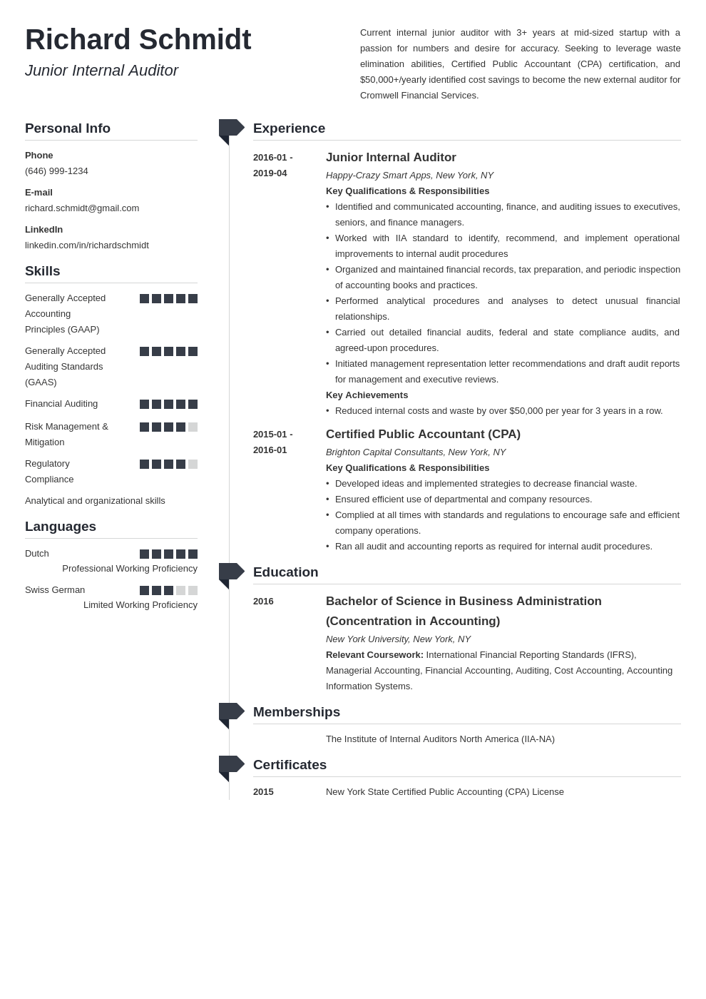 auditor resume example template muse