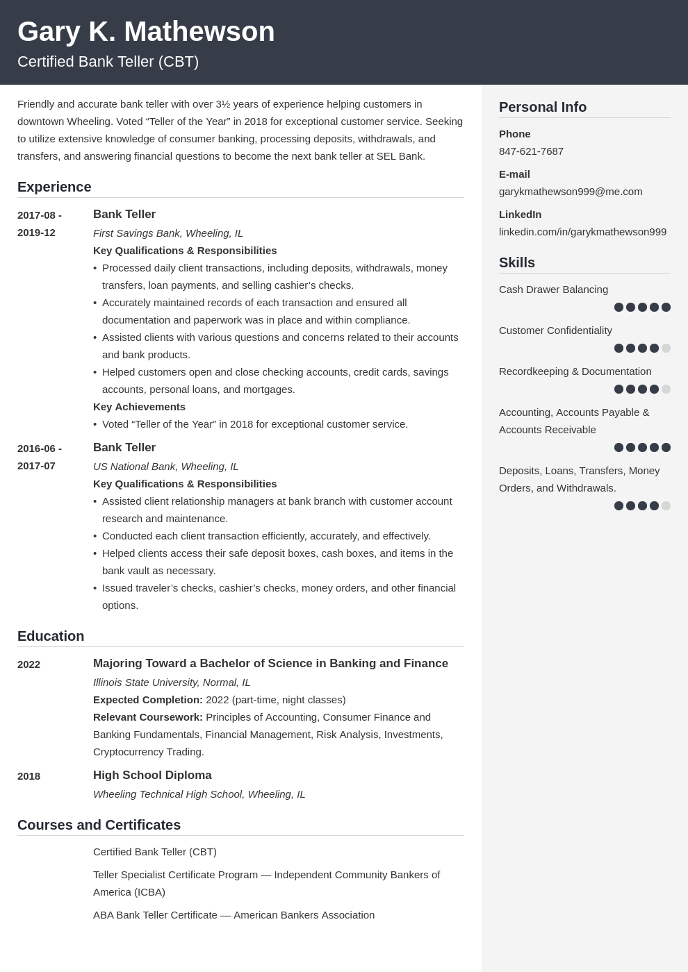 bank teller resume template cubic
