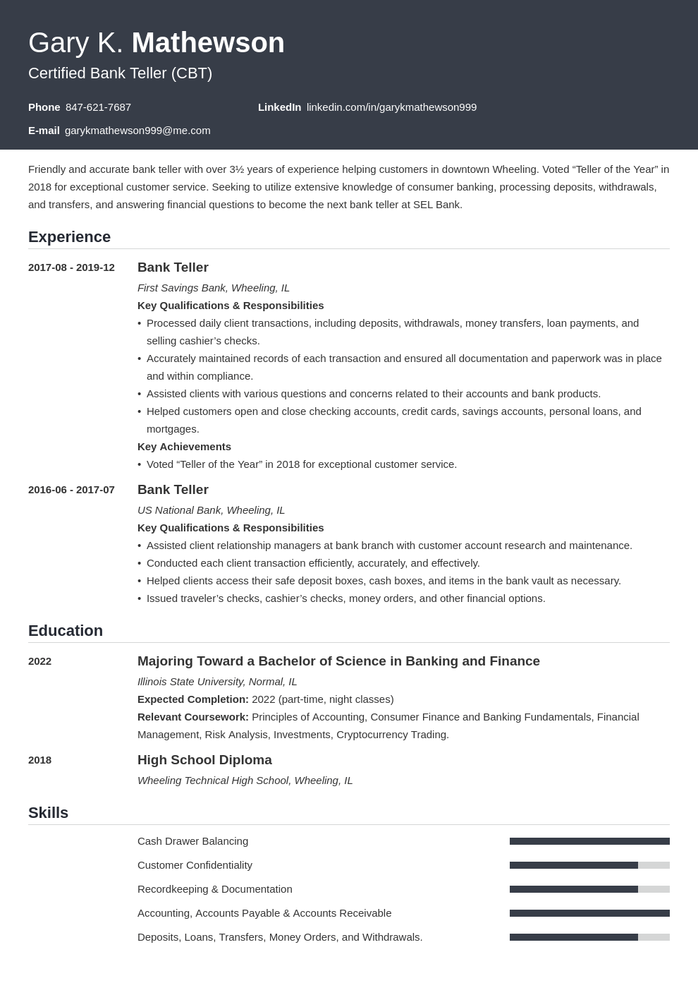 bank teller resume template influx