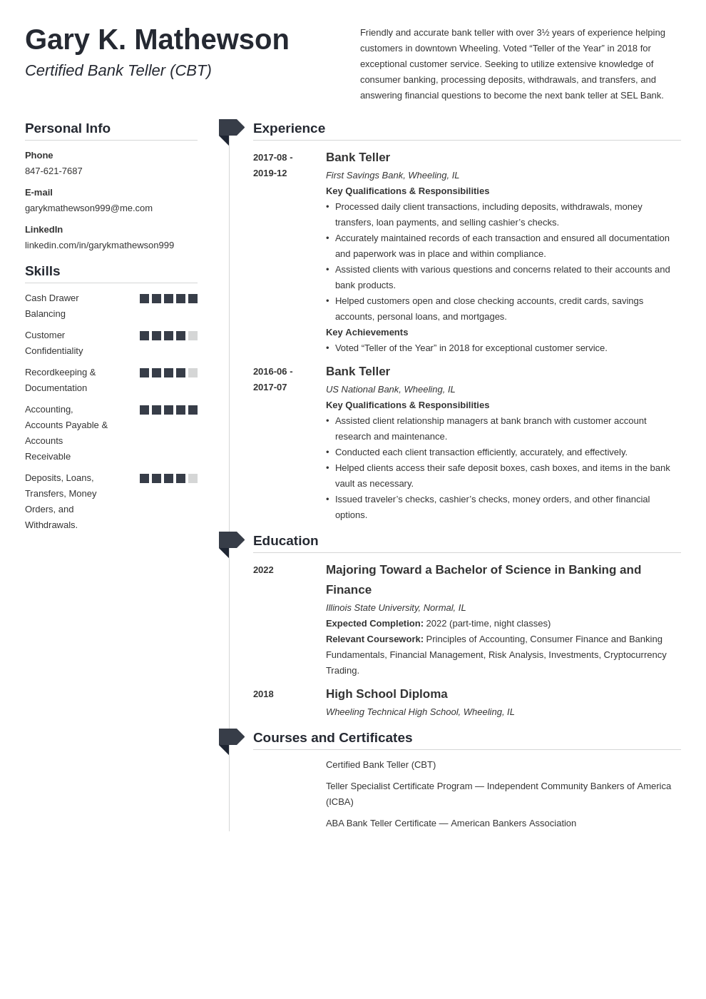 bank teller resume template muse