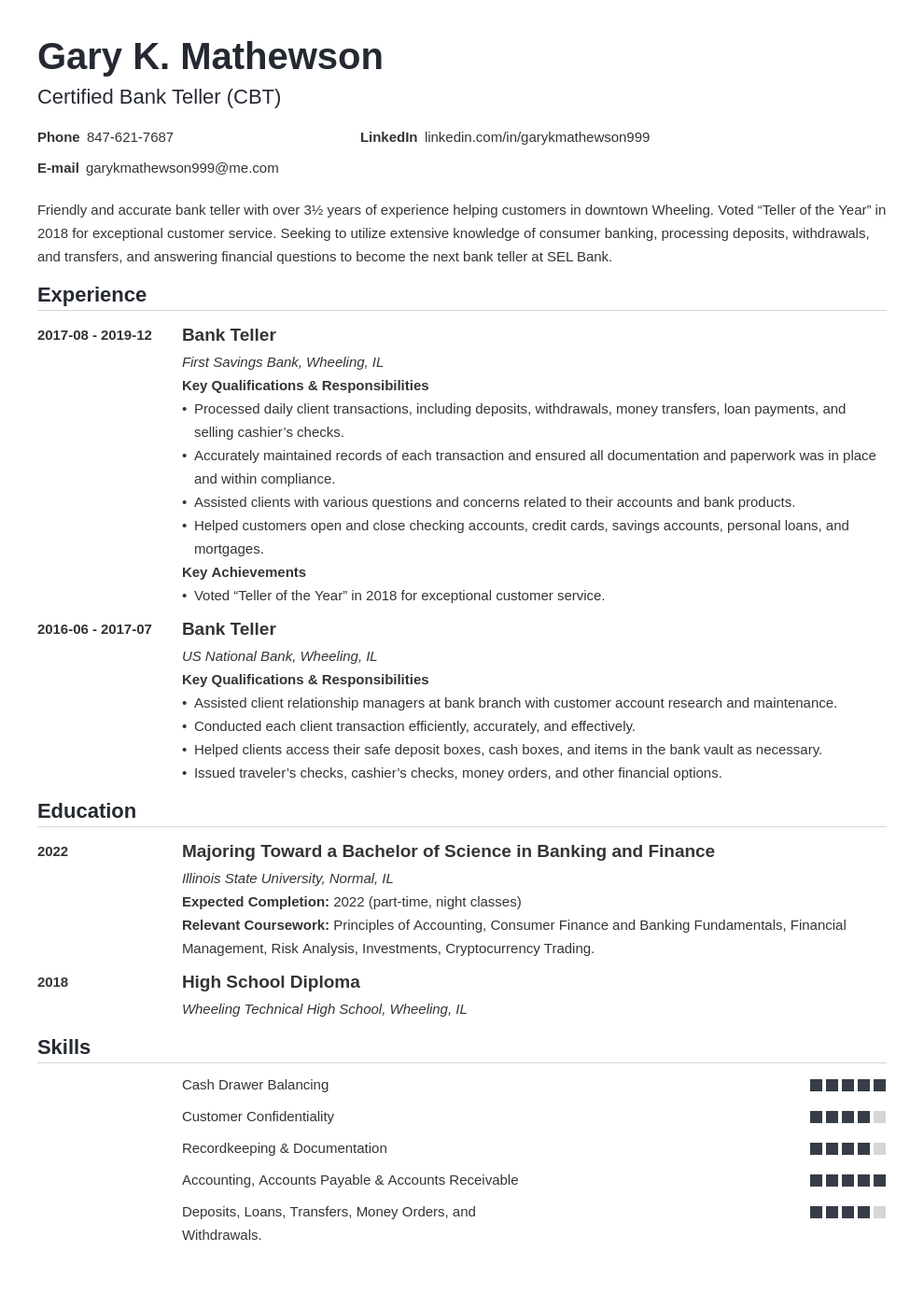 bank teller resume template nanica