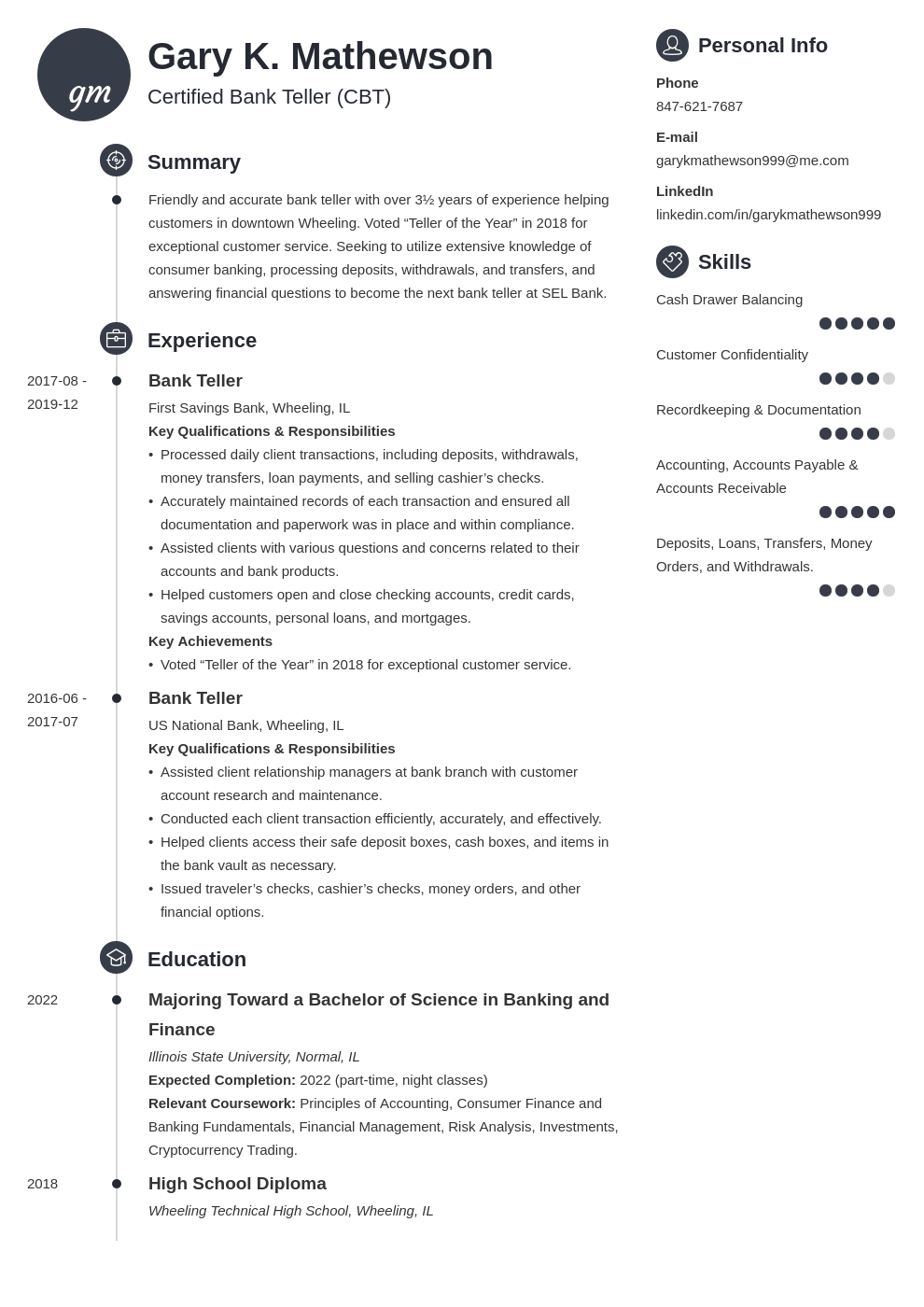 bank teller resume template primo
